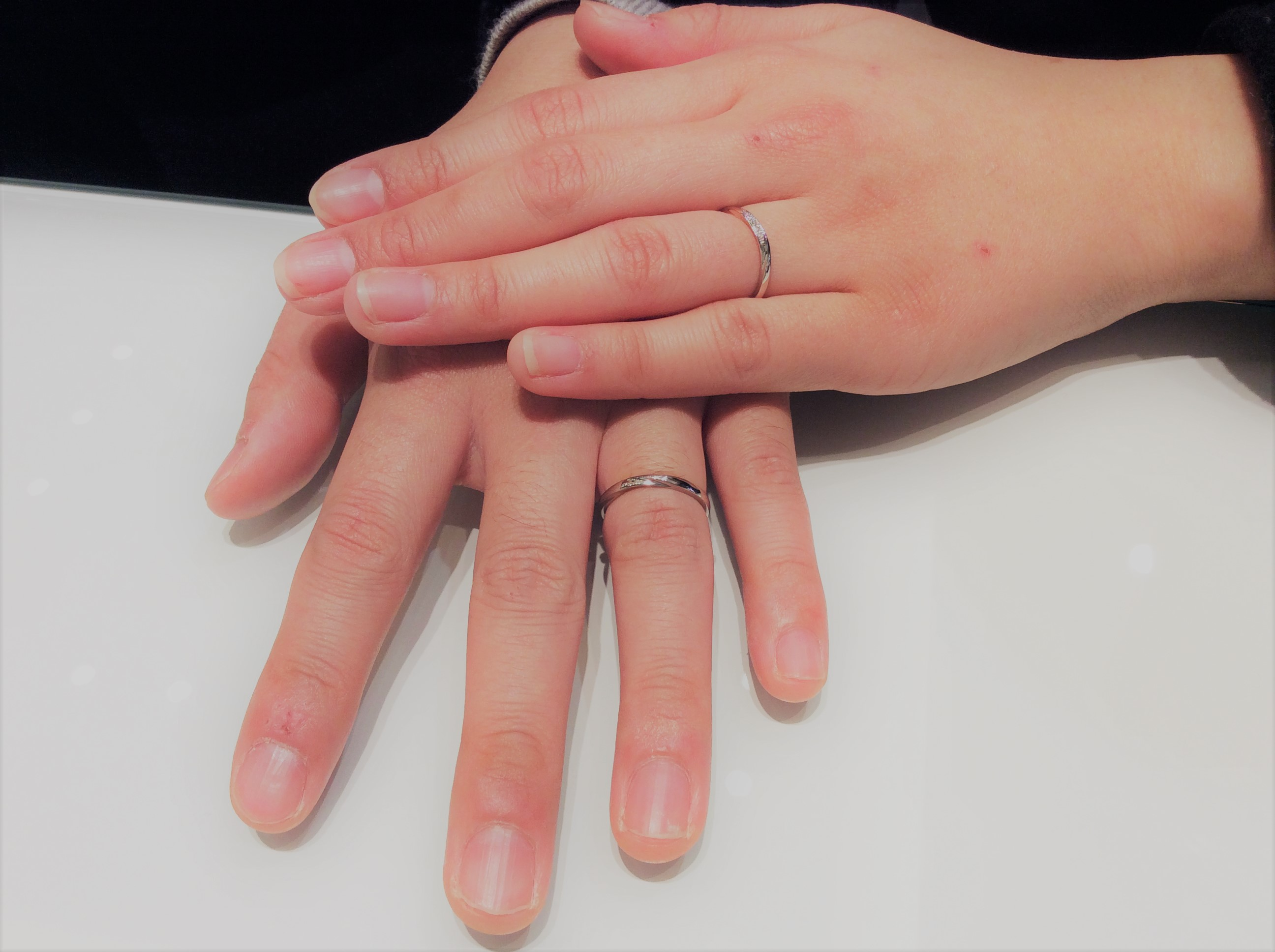 俄(NIWAKA)のご結婚指輪『雪佳景』(見附市・加茂市 / 早川様ご夫婦)