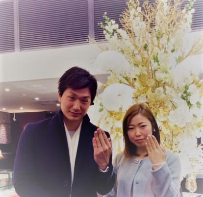 俄(にわか)のご結婚指輪『雪佳景』⛄  (長岡市/T様&Y様)