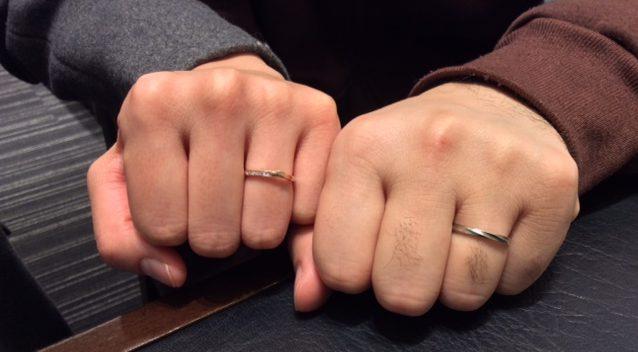 お二人だけの組み合わせ、ロイヤルアッシャーと俄(にわか)のご結婚指輪 (新潟市/S様ご夫婦)