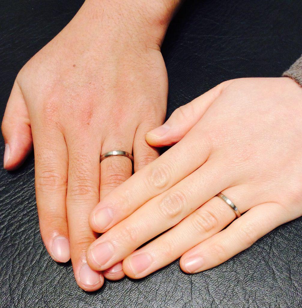 俄(にわか)の京杢目『長閑』のご結婚指輪💍  (新潟市/M様&A様)