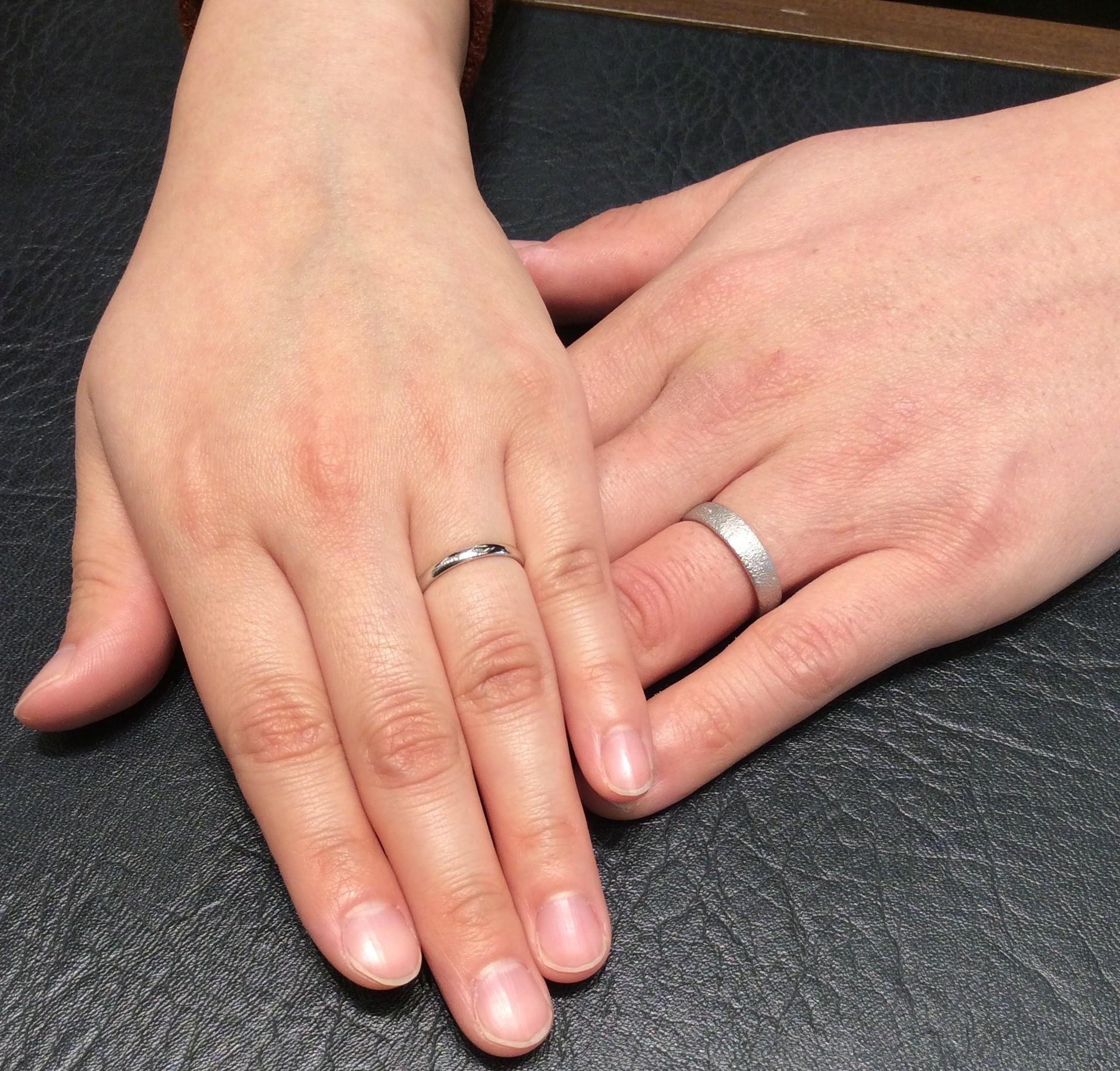 俄(にわか)の『長次郎&ことほぎ』のご結婚指輪  (長岡市/K様&N様)