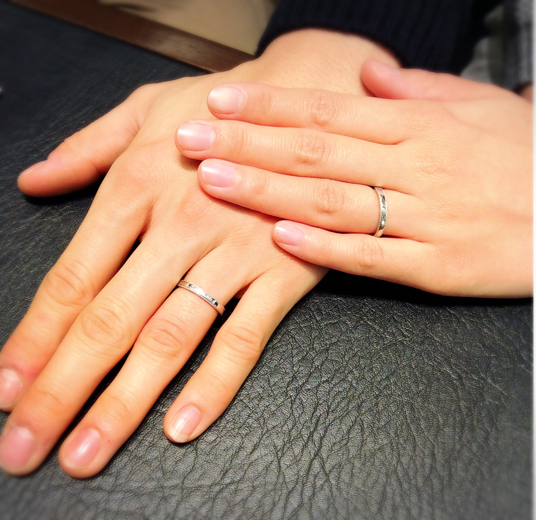 ルシエ(LUCIE)のご結婚指輪『パルファン』をご成約(上越市/Y様ご夫婦)