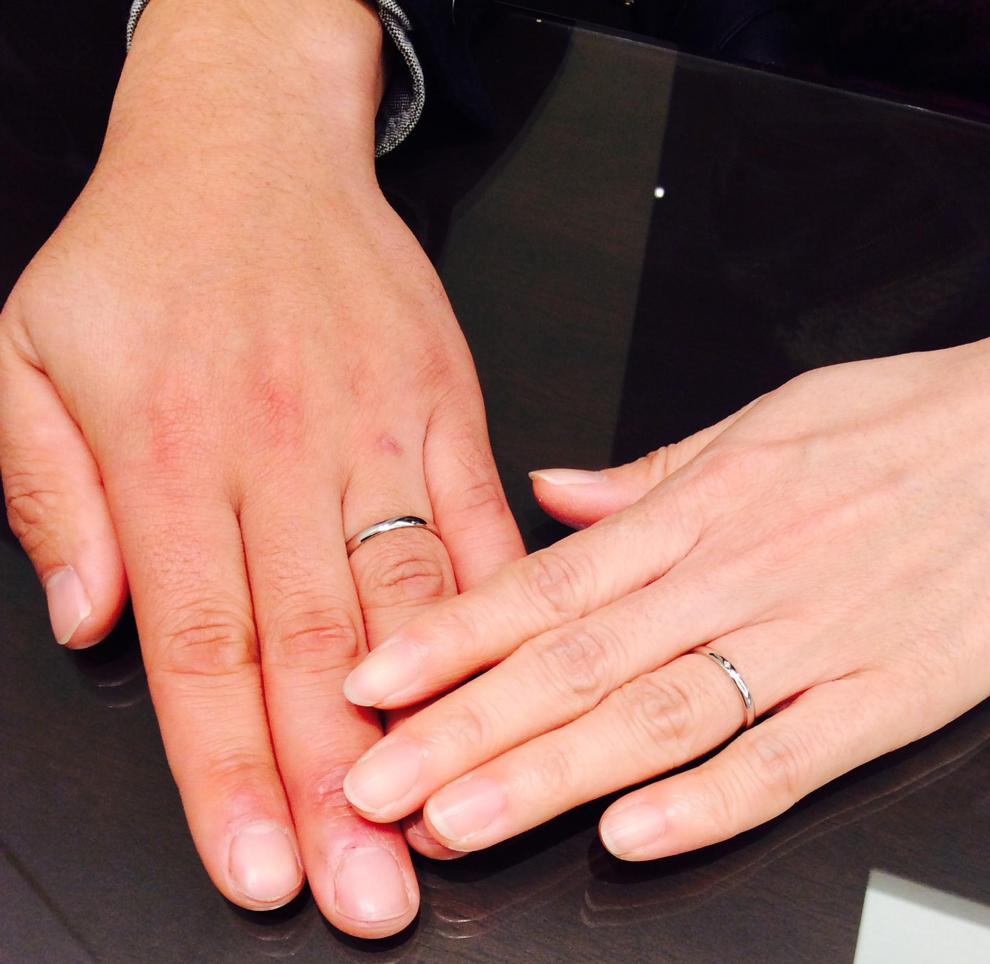 俄(にわか)の結婚指輪『ことほぎ』( 村上市/S様ご夫婦)