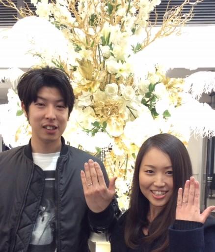俄(にわか)の結婚指輪『初桜』(新潟市 / 大野様ご夫妻)
