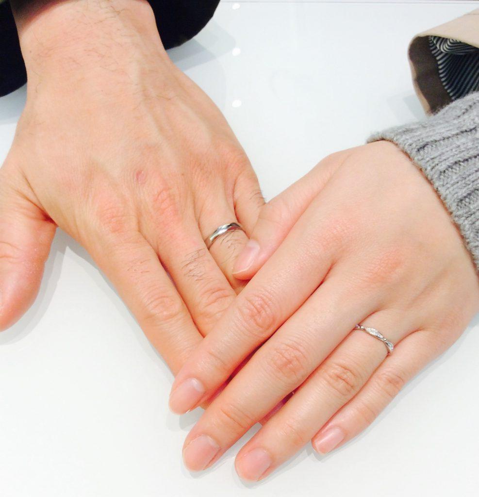 """ルシエのご結婚指輪 """"アリア"""" (新発田市/I様&M様)"""