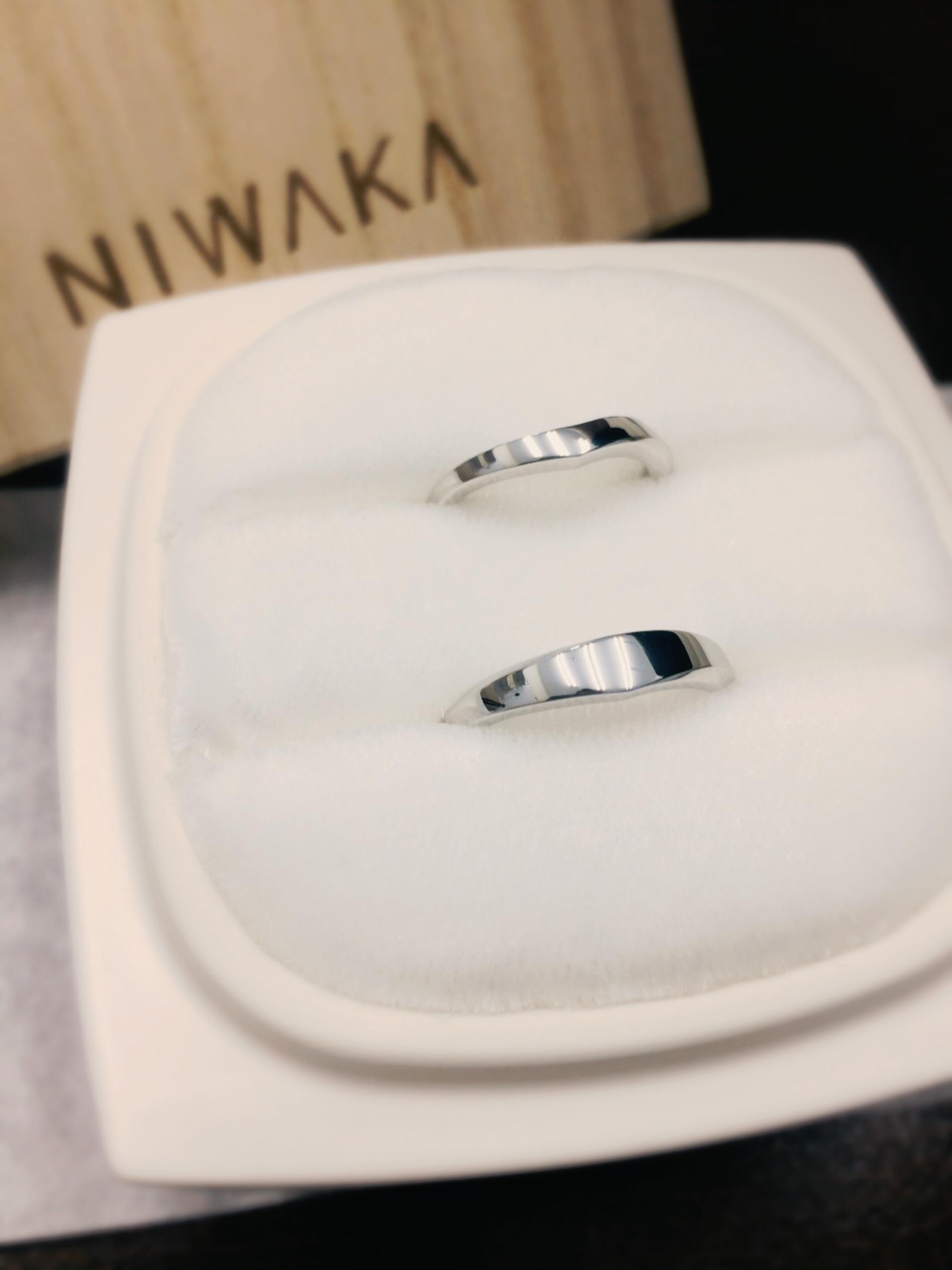 NIWAKA(にわか)の結婚指輪「水鏡」をご成約(佐渡市/M様ご夫婦)