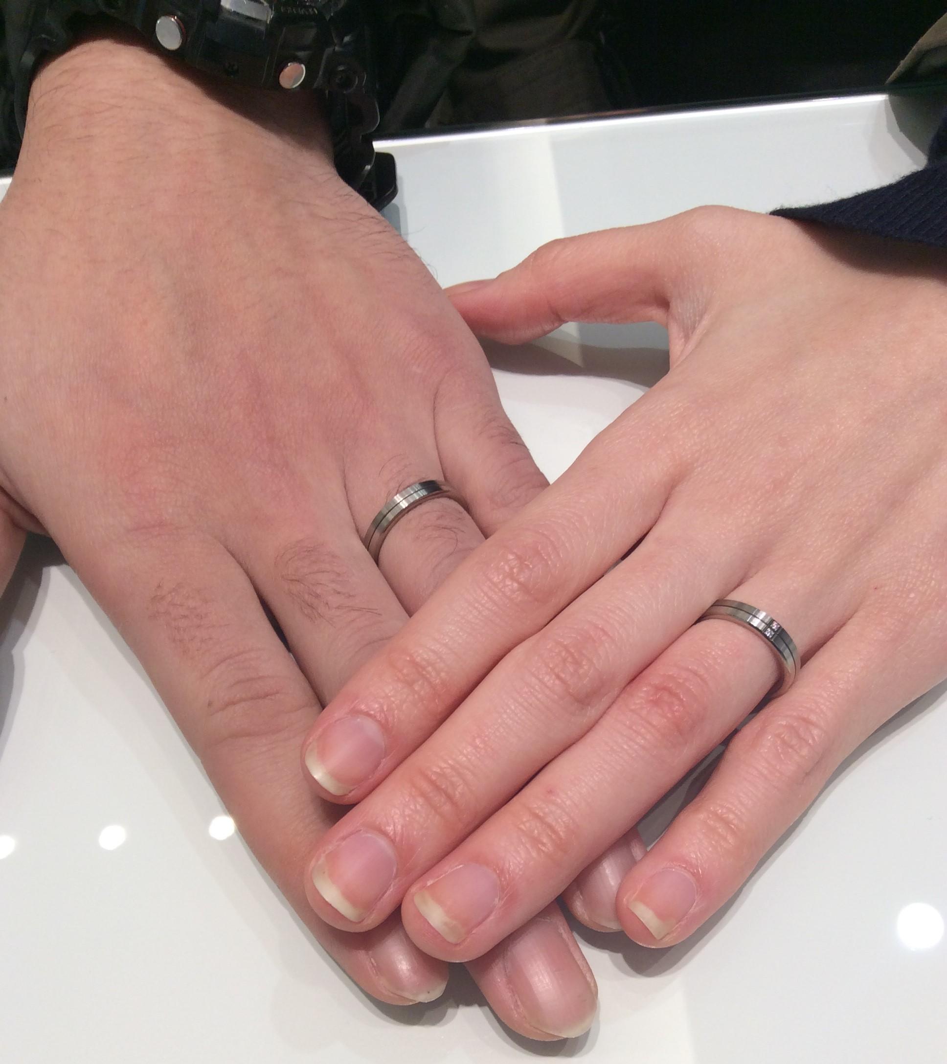 N.Y.NIWAKA(ニューヨークニワカ)の 『ハーモニー』ご結婚指輪  (北海道・新潟市/A様ご夫婦様)