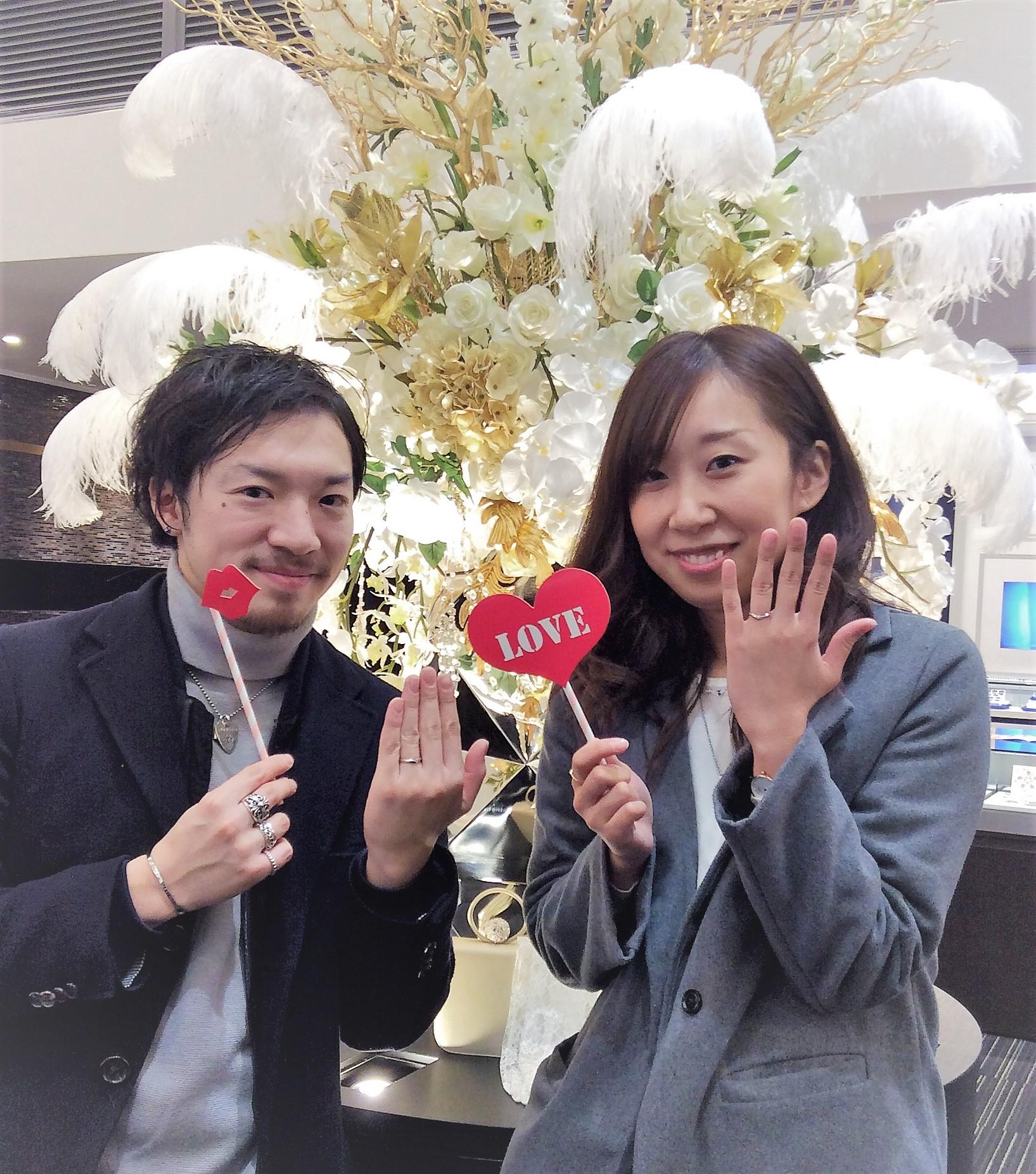 俄(にわか)の結婚指輪『初桜(ういざくら)』細いタイプでお作りしました!(新潟市/S様&Y様)