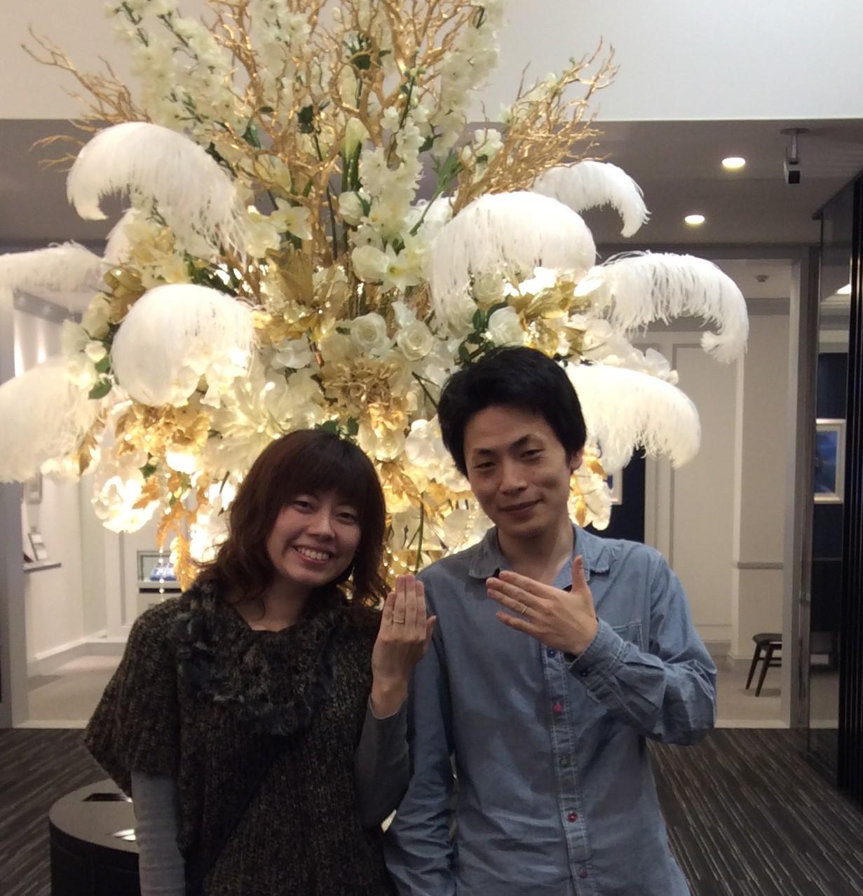 カフェリングの『ジャルダン ドゥ ロゼ』ご結婚指輪🌼  (新潟市/T様&W様)
