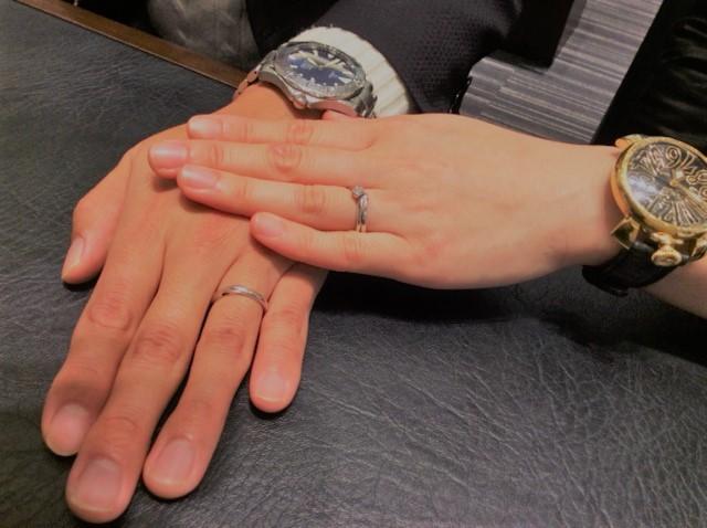 俄(にわか)の婚約指輪・結婚指輪『初桜』(新潟市 / Y様・I様)