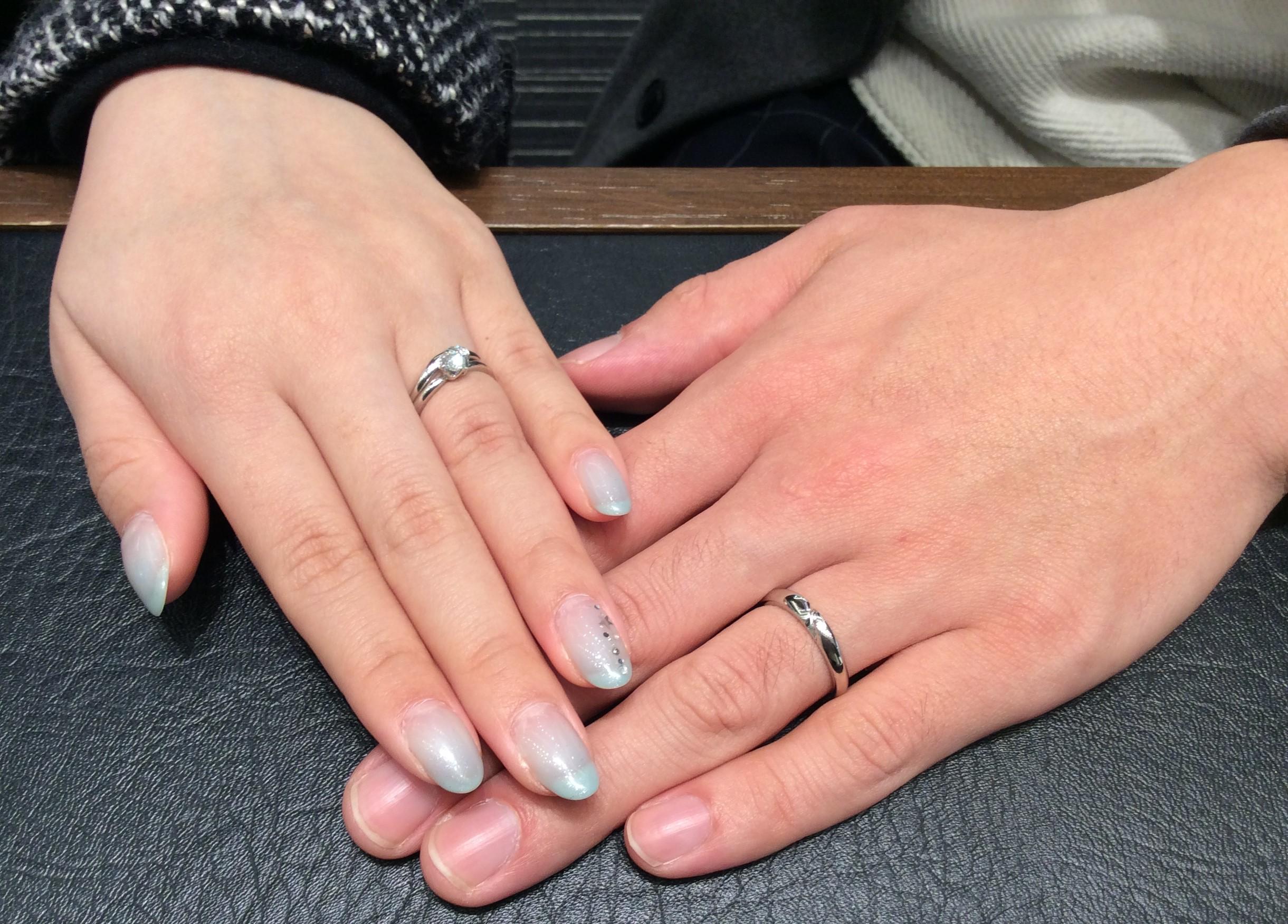 俄(にわか)の『結』のご結婚指輪  (長岡市/N様&Y様)