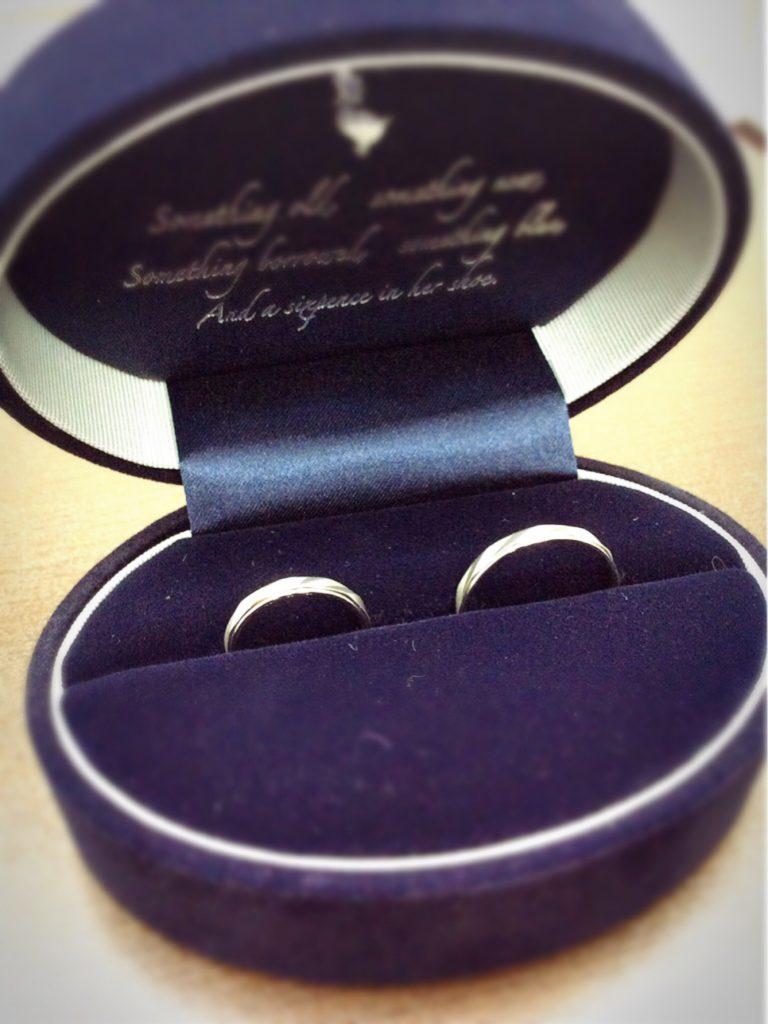 サムシングブルーのご結婚指輪をご成約(新潟市/M様ご夫婦)