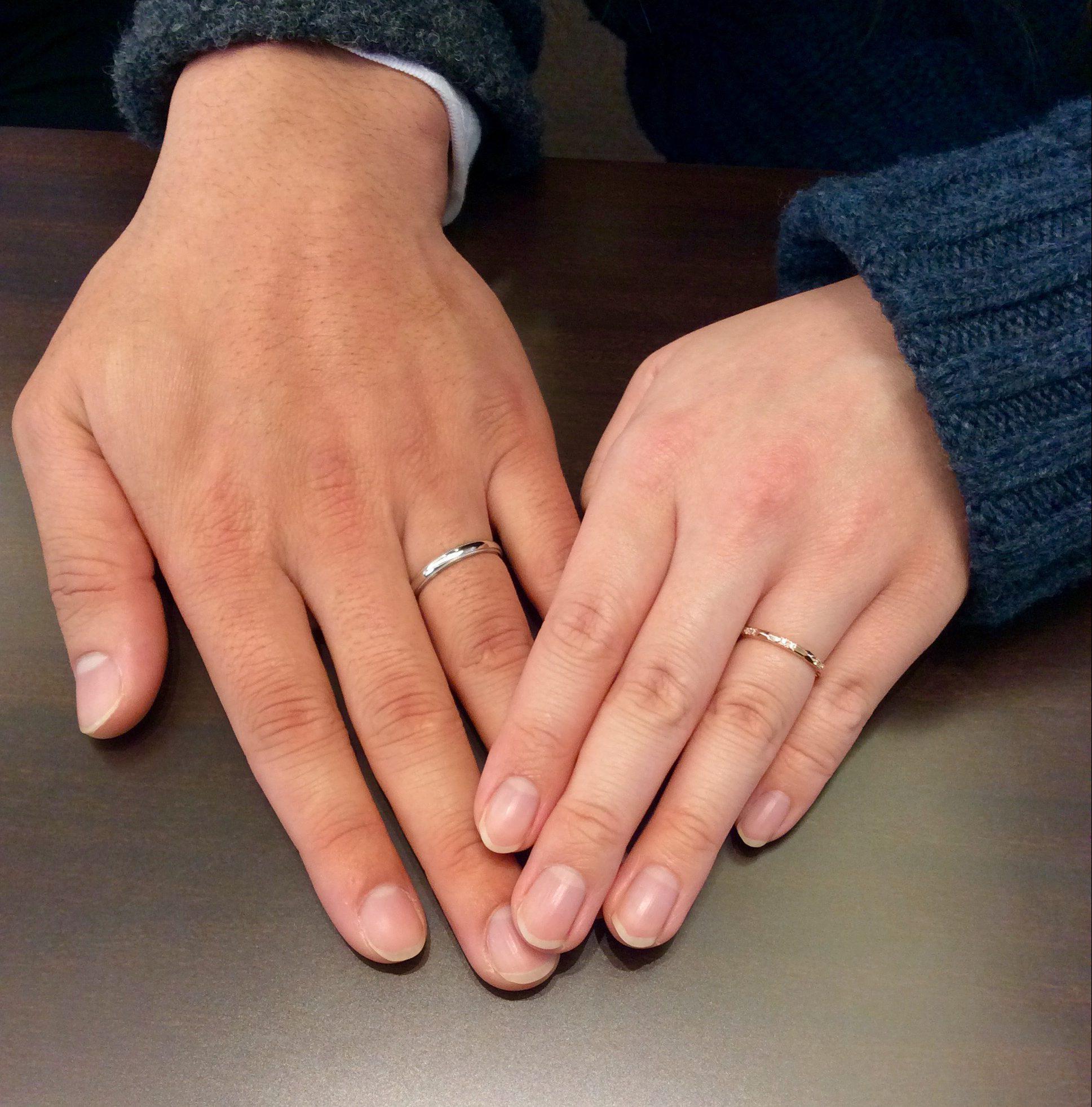結婚指輪 LUCIE(ルシエ)のサンティエ&ブランシュ(長岡市/M様・Y様)