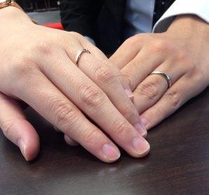 結婚指輪ルシエの『リップル』、俄(にわか)の『雪佳景』を新発田市からお越しの星様ご夫妻にお求め頂きました🌟