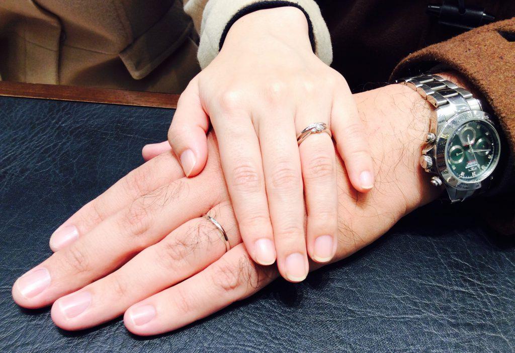 婚約指輪&結婚指輪 クッカクッカ『プティ』のセットリング(三条市・新潟市/N様ご夫婦)