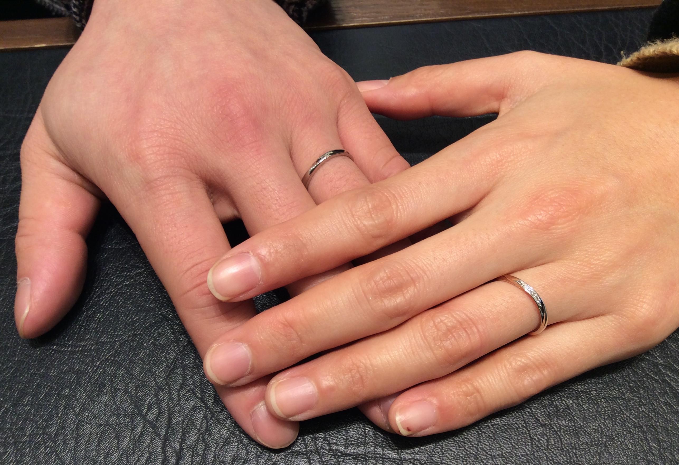結婚指輪 NIWAKA(にわか)の『雪佳景』 (三条市・新潟市/T様ご夫婦)