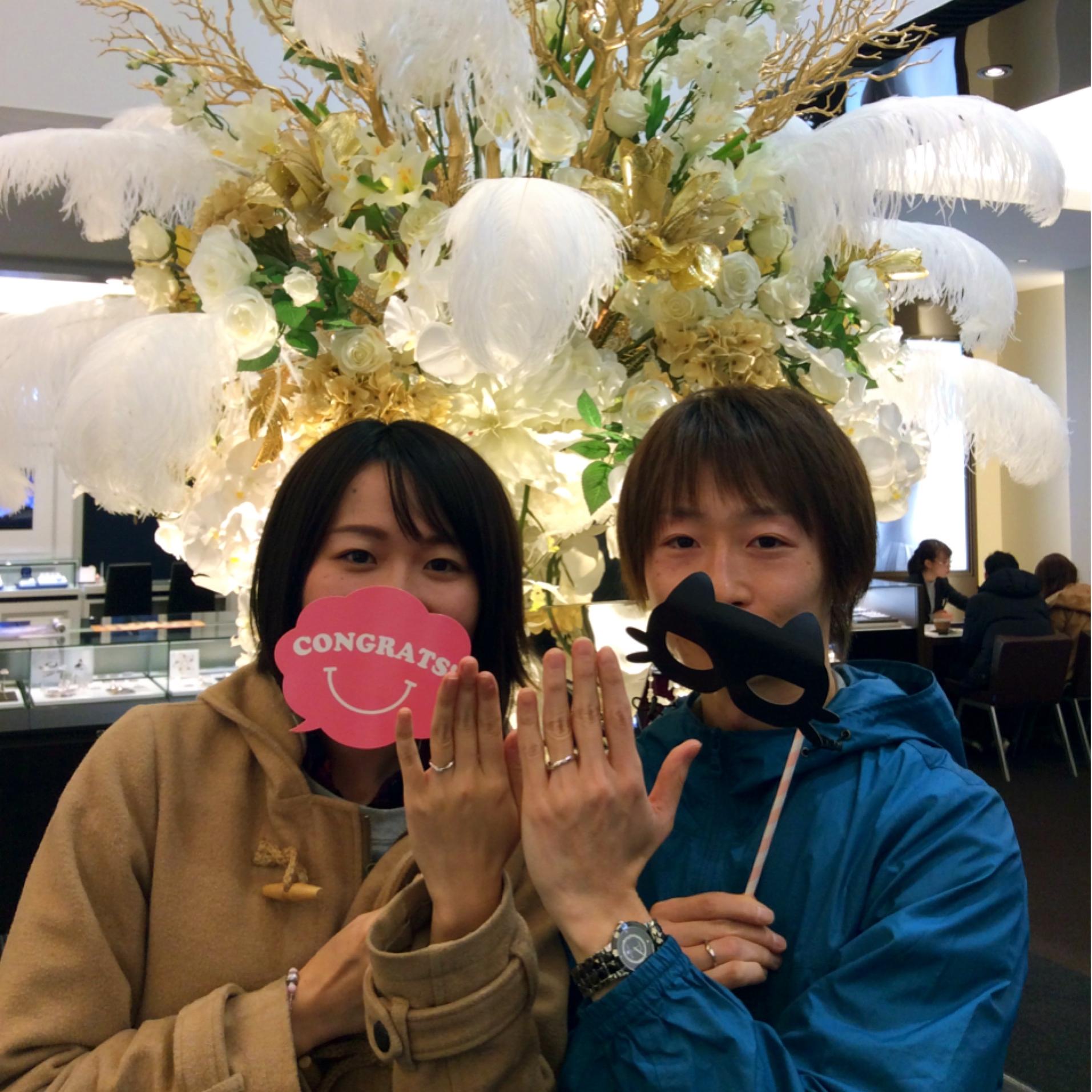 プラチナの結婚指輪 『俄(にわか)、初桜🌸(ういざくら)』
