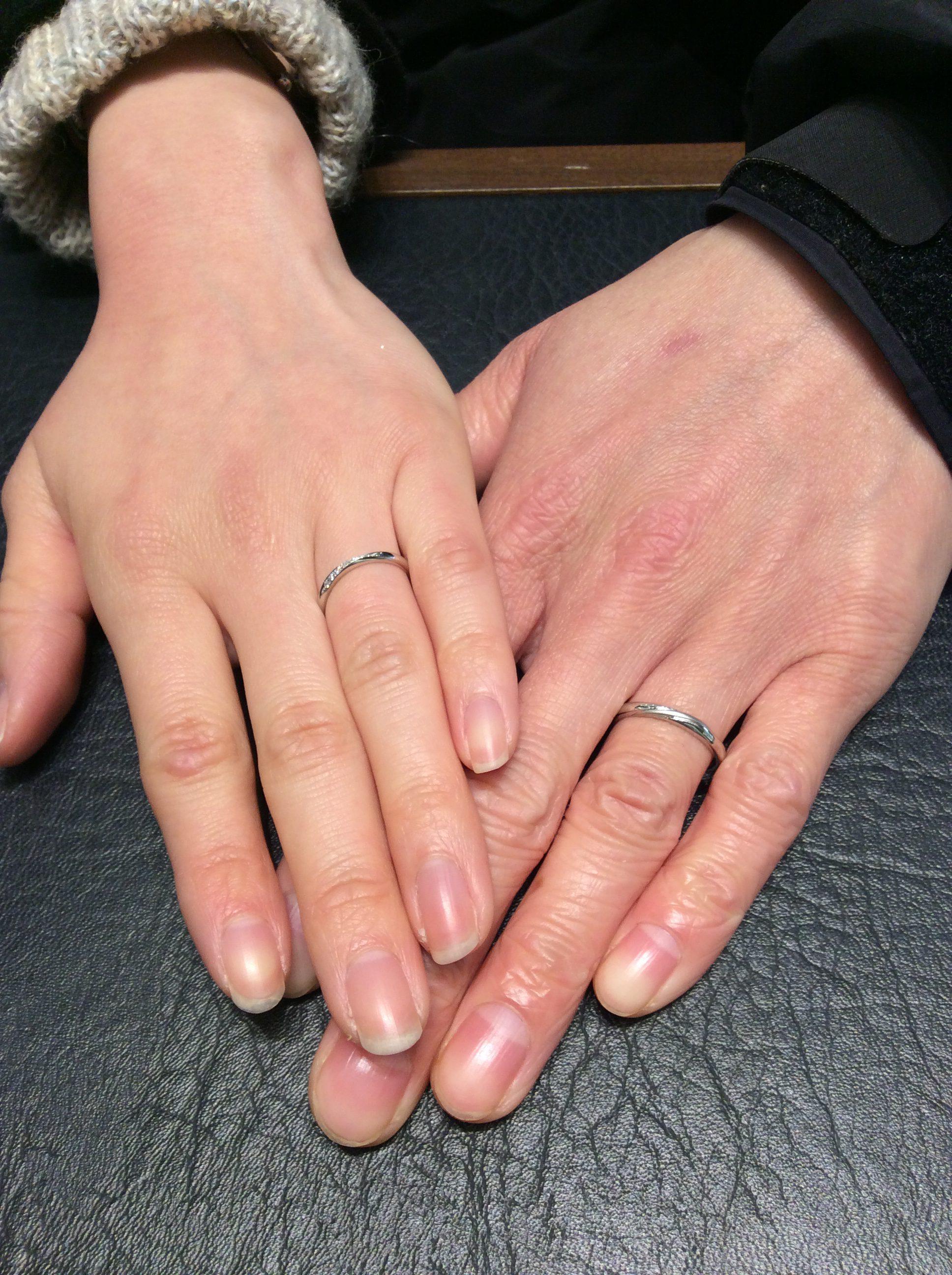 LUCIE(ルシエ)の結婚指輪リップル&リファージュをご成約(新潟市/M様ご夫婦)