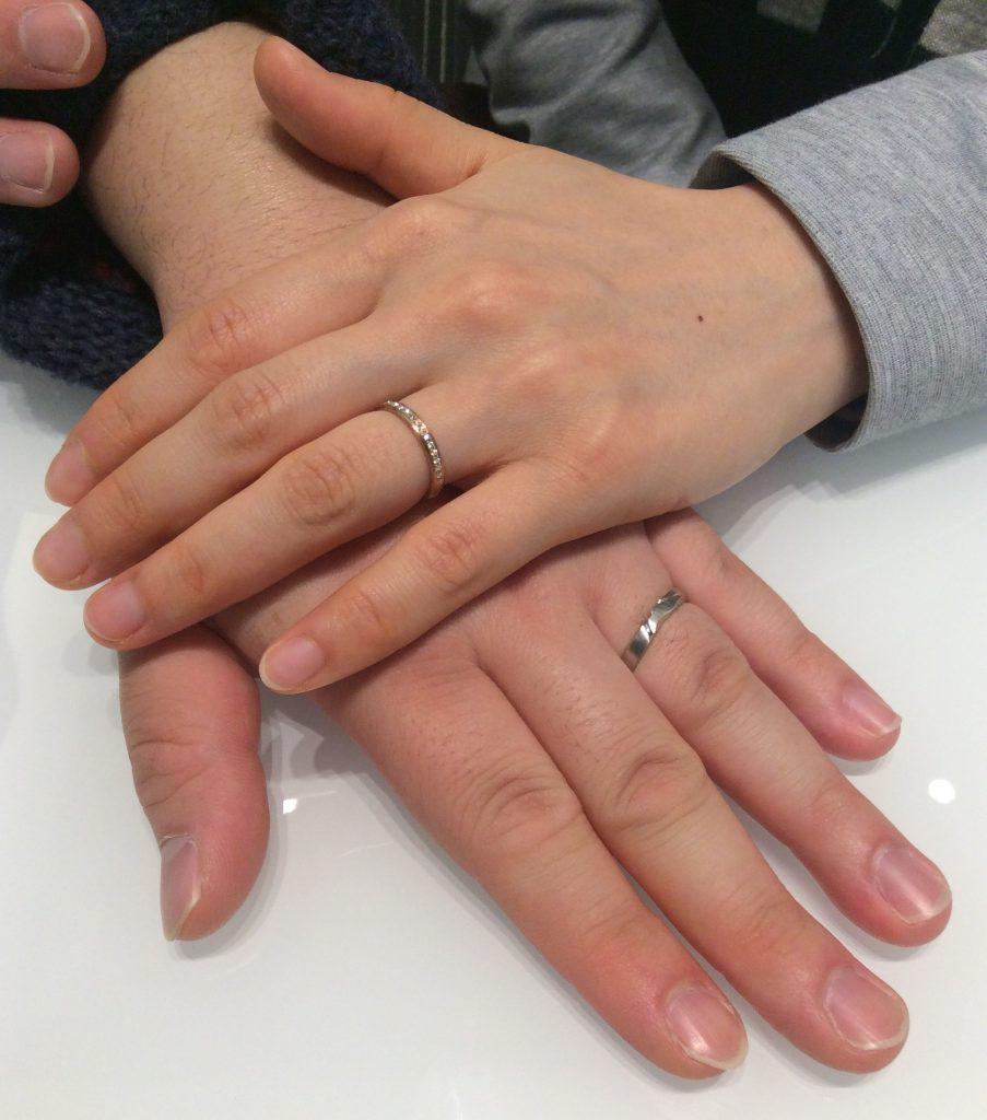 結婚指輪 俄(にわか)の『唐花&長閑』をご成約 (新潟市/U様ご夫婦)