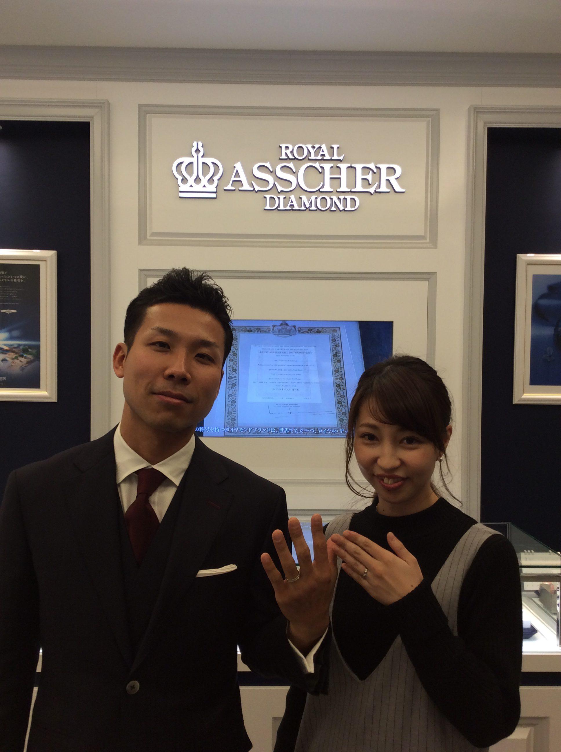 婚約指輪・結婚指輪『ロイヤルアッシャー』💎世界最高峰のダイヤモンドブランド✨(新潟市/K様・Y様)