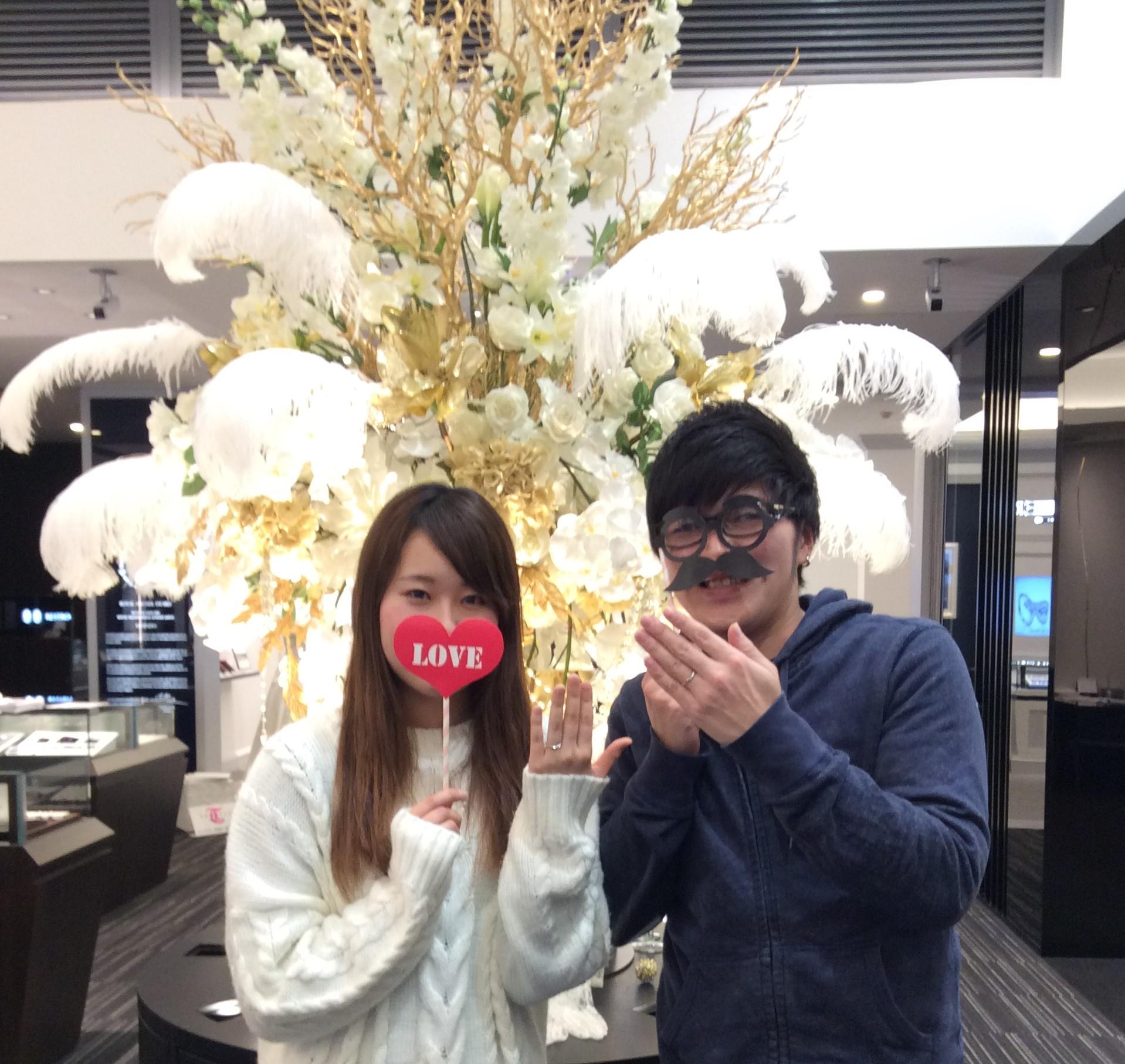 結婚指輪 LUCIE(ルシエ)の『ディスティニー』 (新潟市/F様ご夫婦)