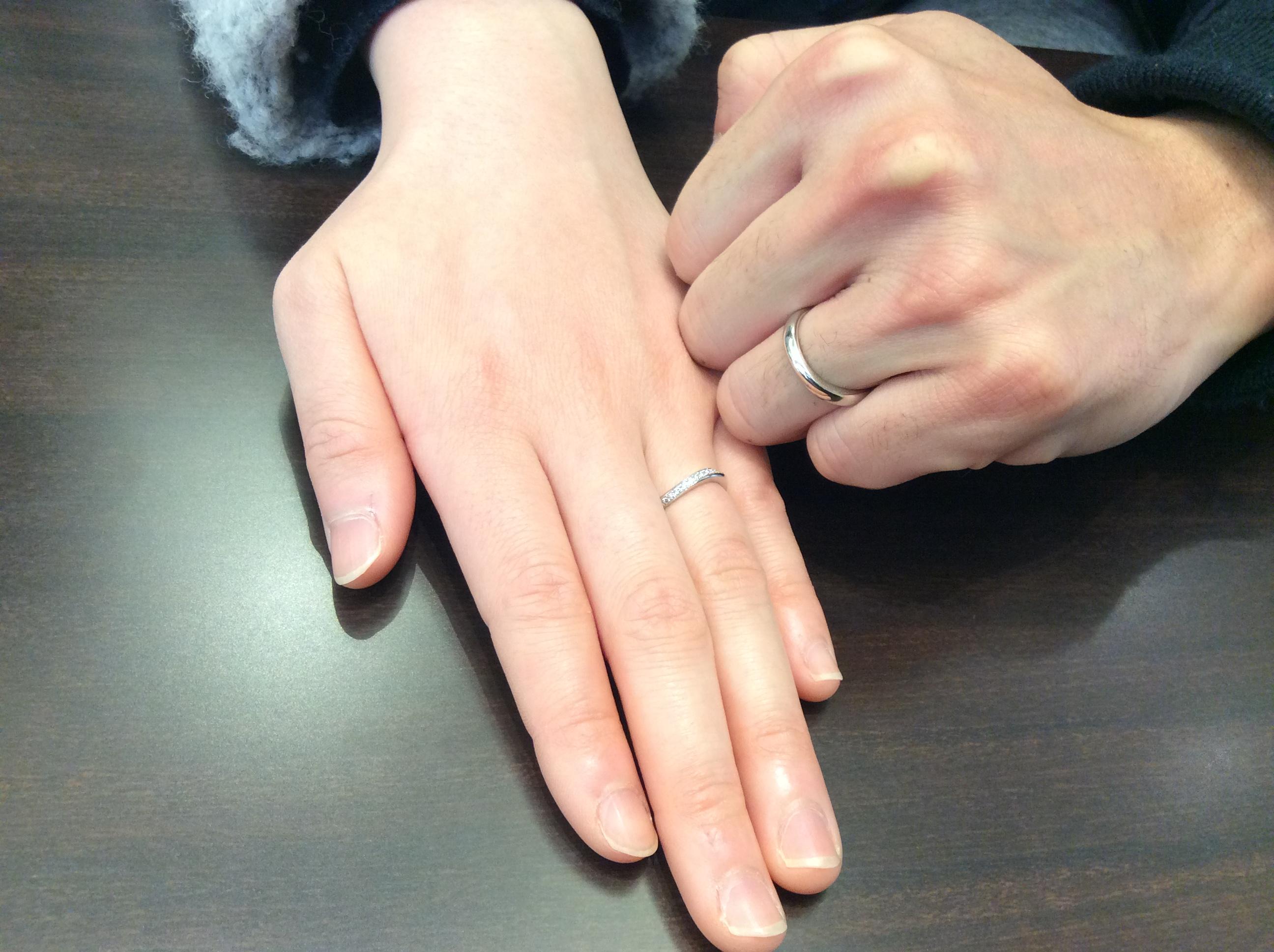 結婚指輪 お好みの幅でLUCIE(ルシエ)のセレナーデをお作り(新潟市/N様ご夫婦)