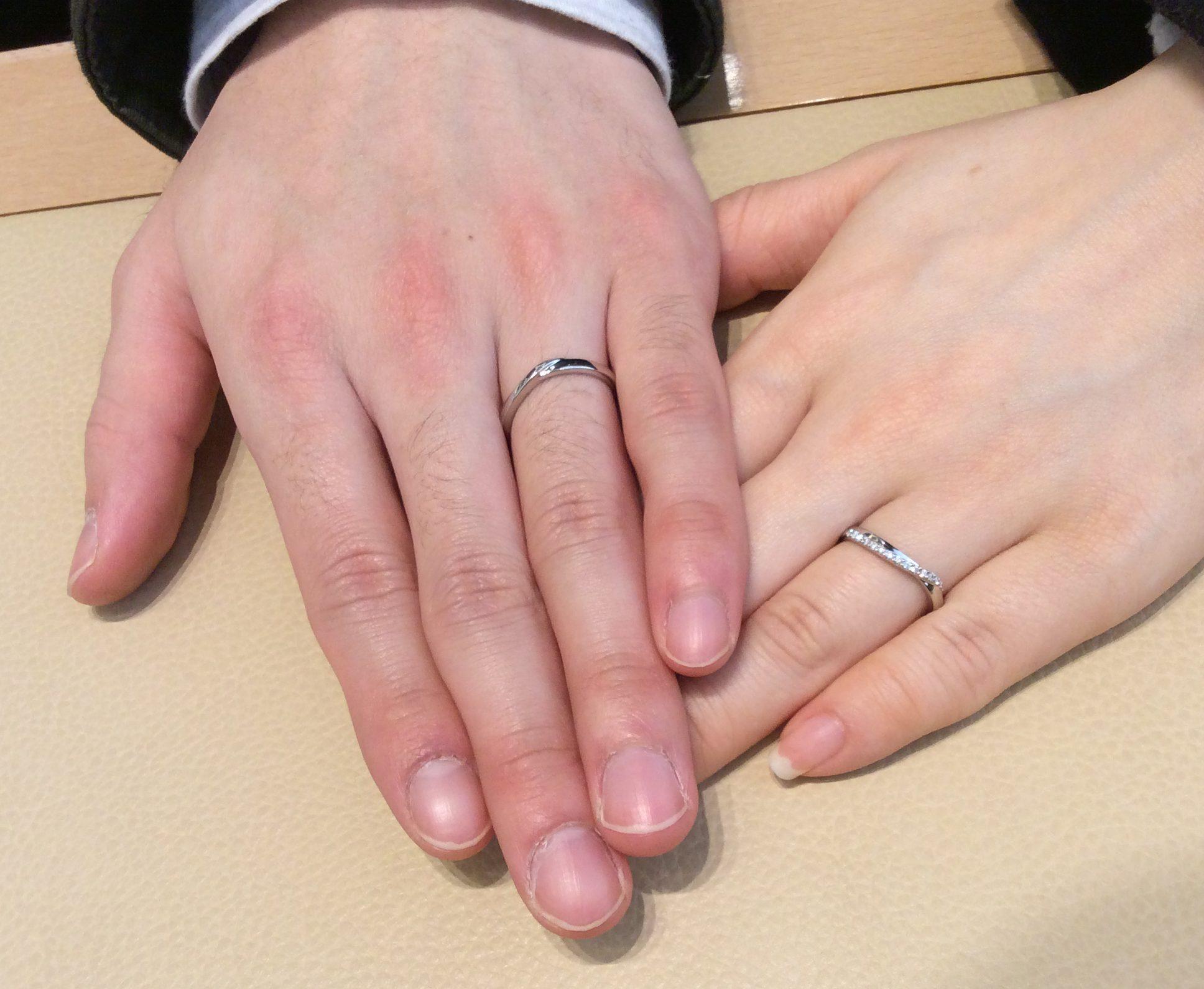 「これを選んで良かった♡」結婚指輪 ポンテヴェキオのプロメッサをご成約(長岡市/S様ご夫婦)