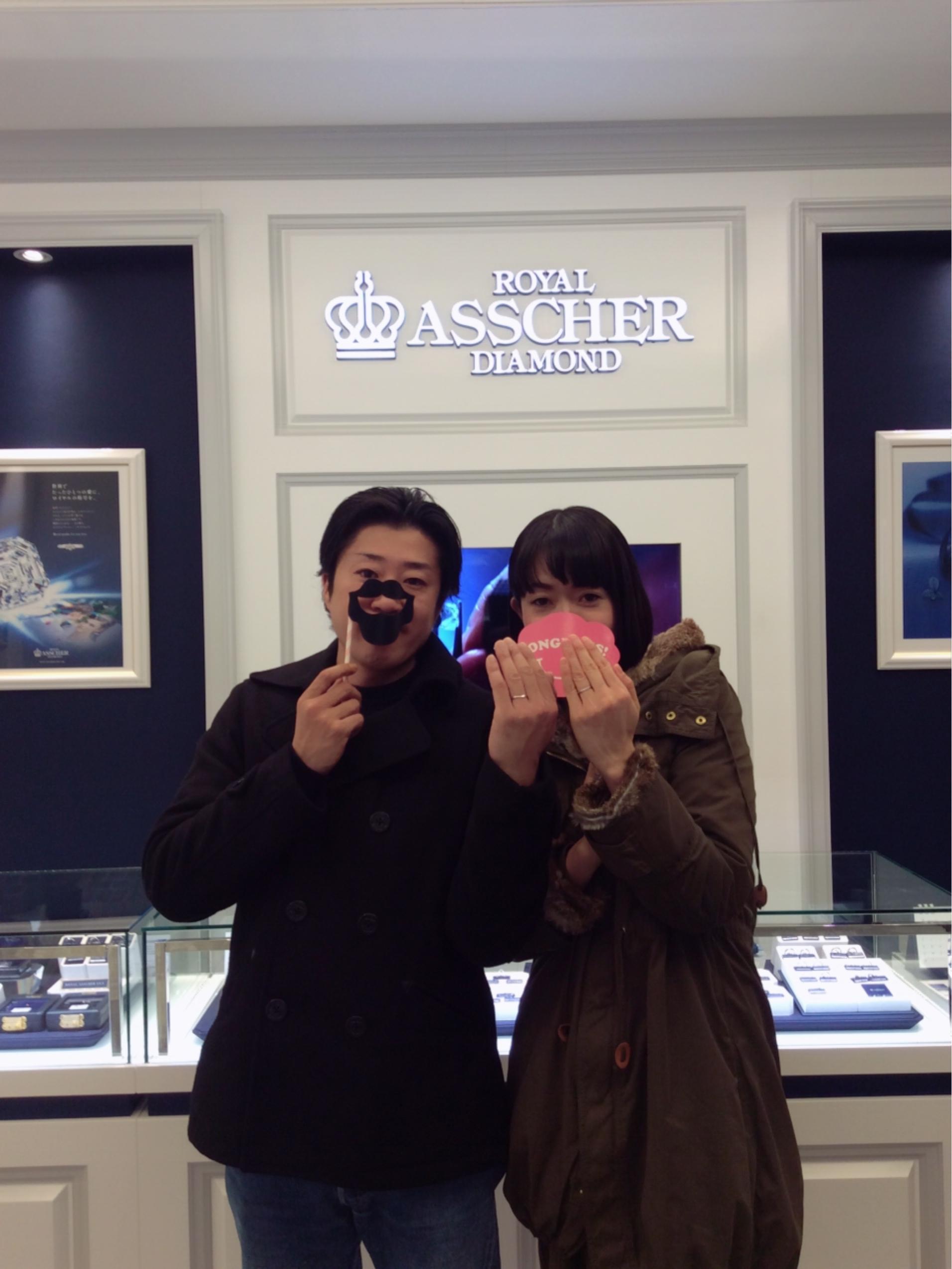 ロイヤルアッシャーの結婚指輪 シンプルなデザインがお気に入り🎶(新発田市・阿賀野市/H様ご夫婦)