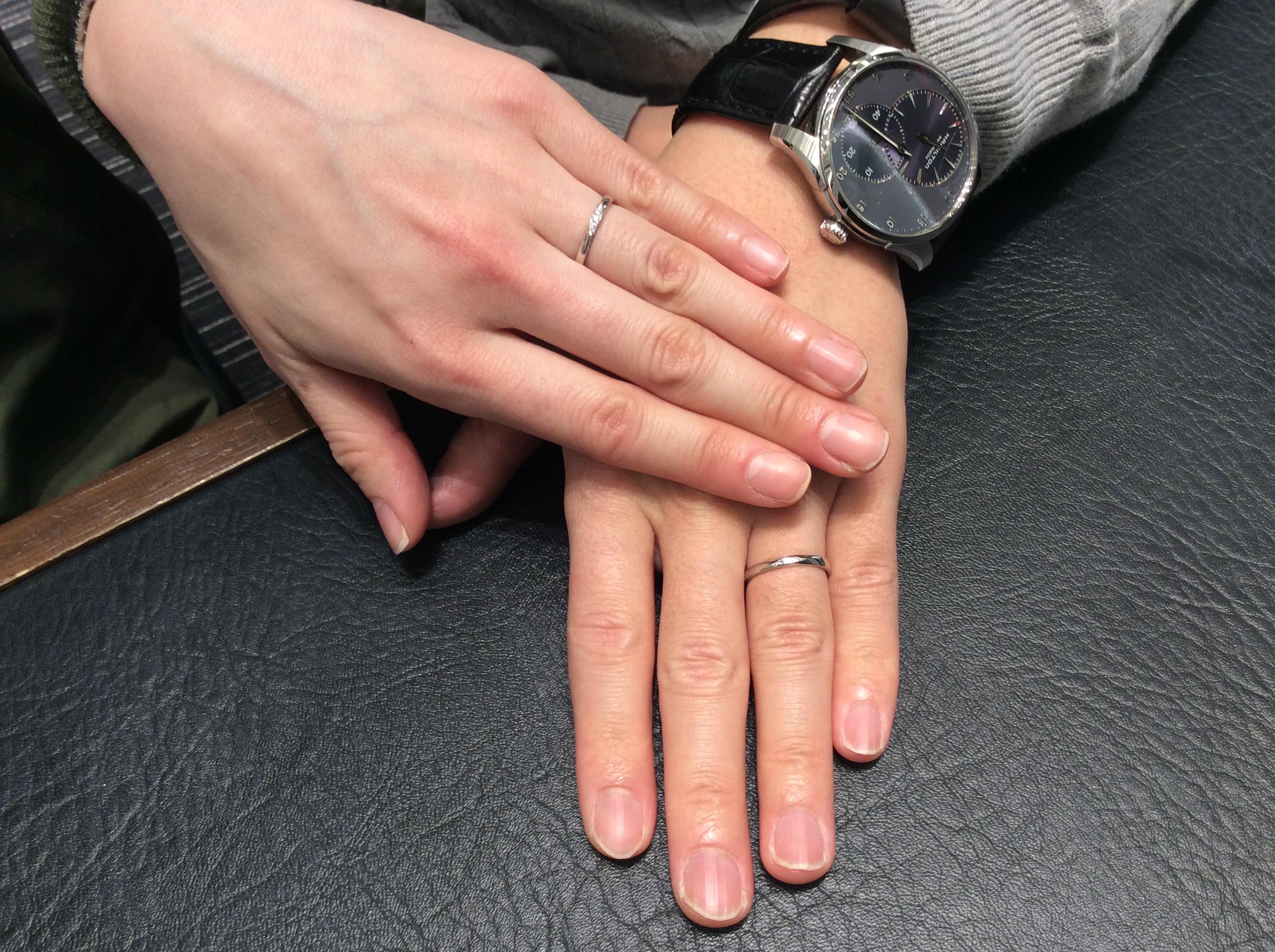 """結婚指輪 ポンテヴェキオの""""モルビド""""をご成約(上越市/I様ご夫婦)"""
