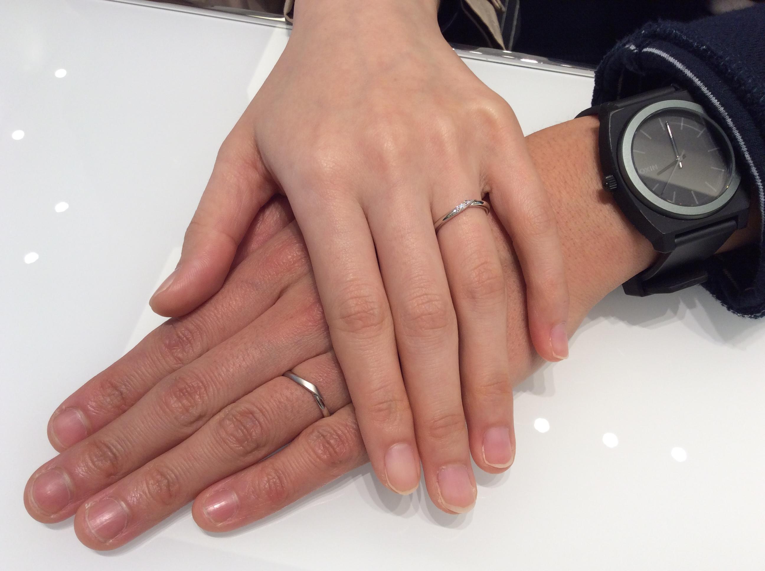 結婚指輪 カフェリング「シェリ」をご成約(長岡市/G様ご夫婦)
