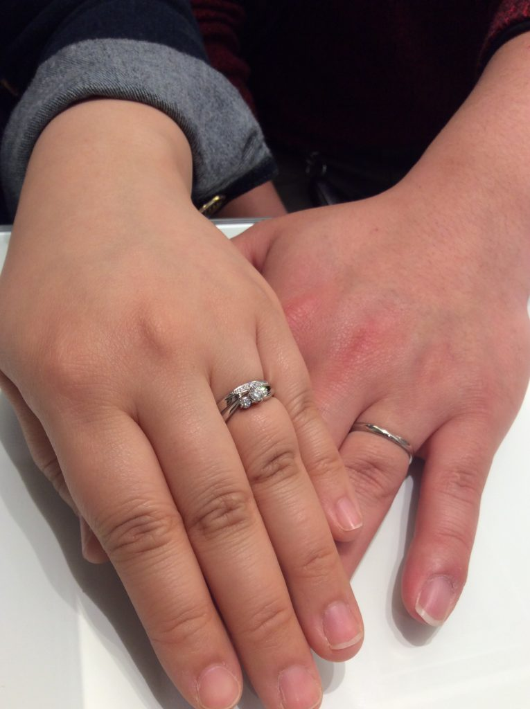 婚約指輪・結婚指輪 ロイヤルアッシャーダイアモンドをご成約(新潟市/Y様・村上市/K様)