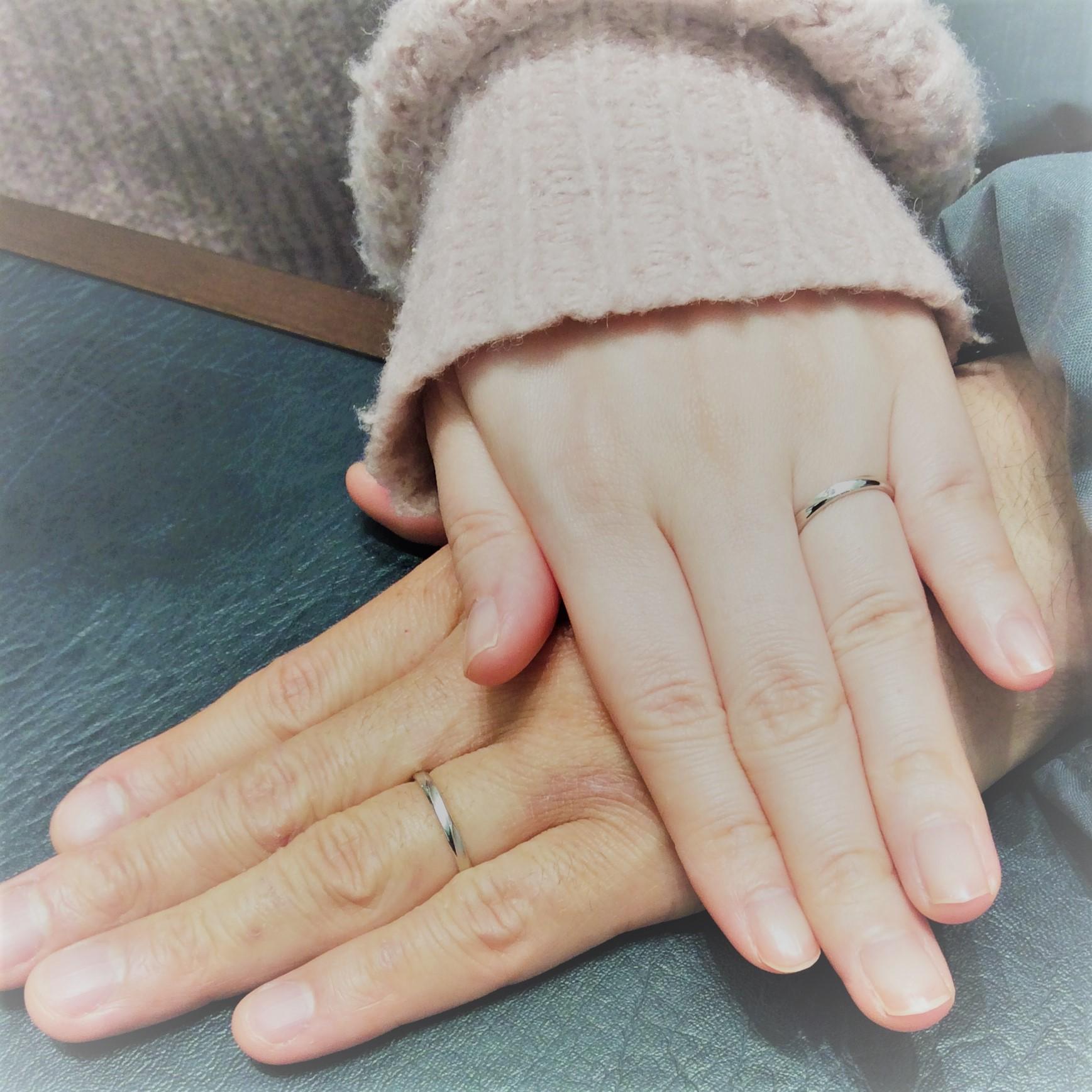 結婚指輪 ロイヤルアッシャー ~つや消し・つや有りのコントラストが美しいデザイン~(長岡市・新発田市/T様&M様))