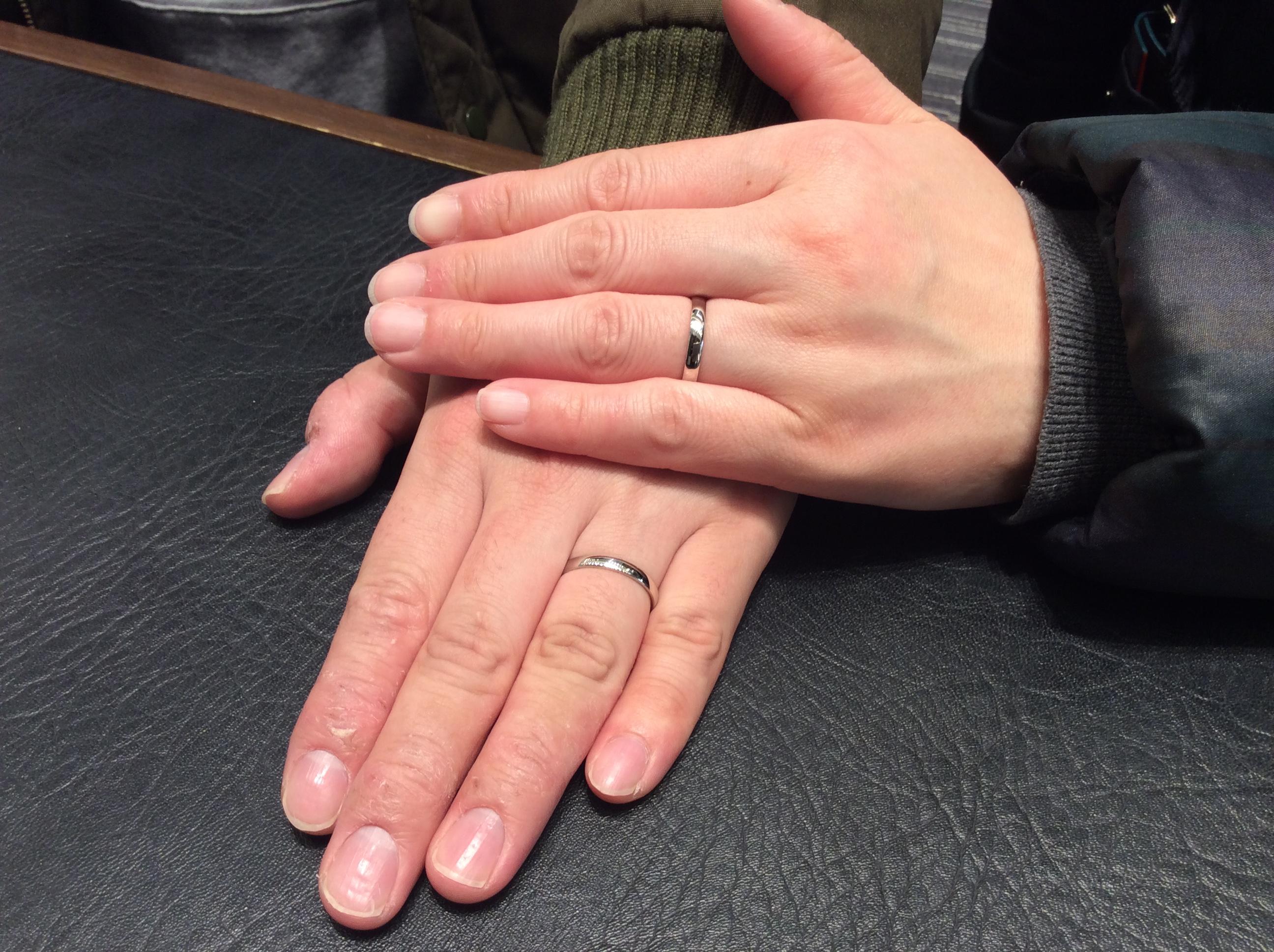 結婚指輪 俄(にわか)のことほぎをご成約⭐️シンプルなデザインが決め手!(新潟市/K様ご夫婦)