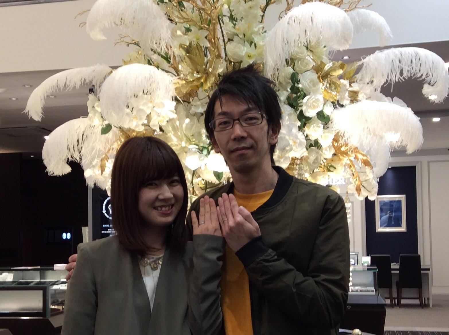 結婚指輪 ポンテヴェキオの『ベルセグレート』をご成約(新潟市/S様・H様)