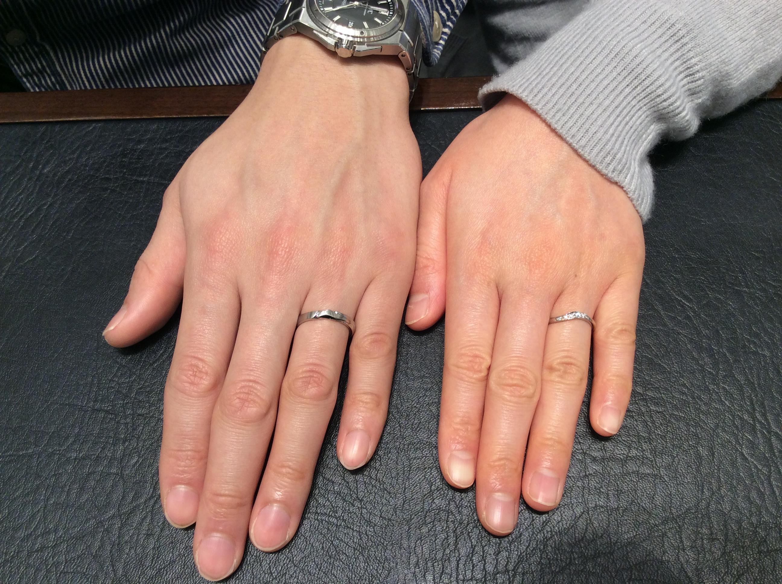 お好みにぴったり♡俄(にわか)の結婚指輪「唐花」をご成約(新潟市北区/S様ご夫婦)