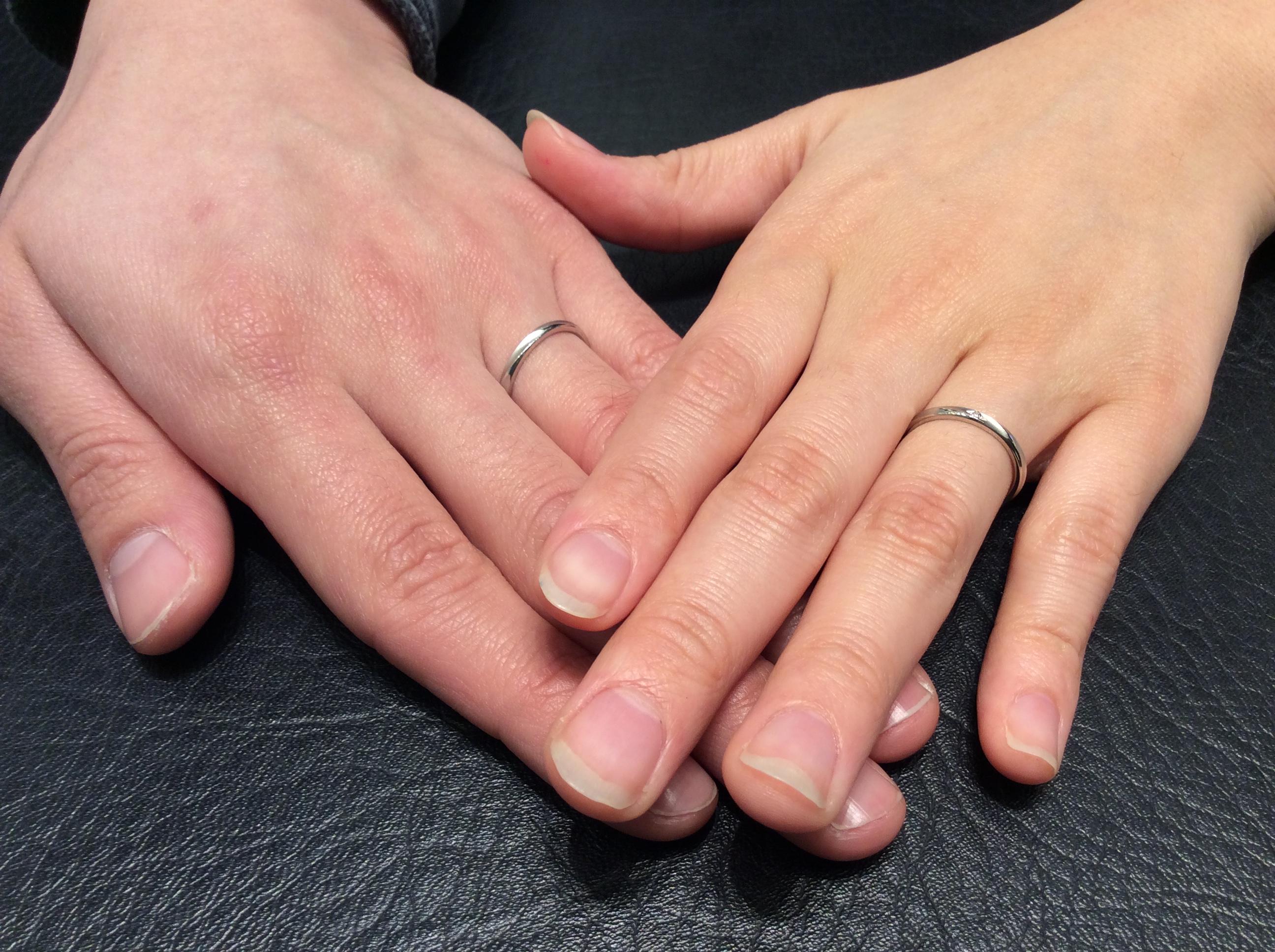 結婚指輪 ロイヤルアッシャーダイアモンドをご成約(村上市/S様ご夫婦)