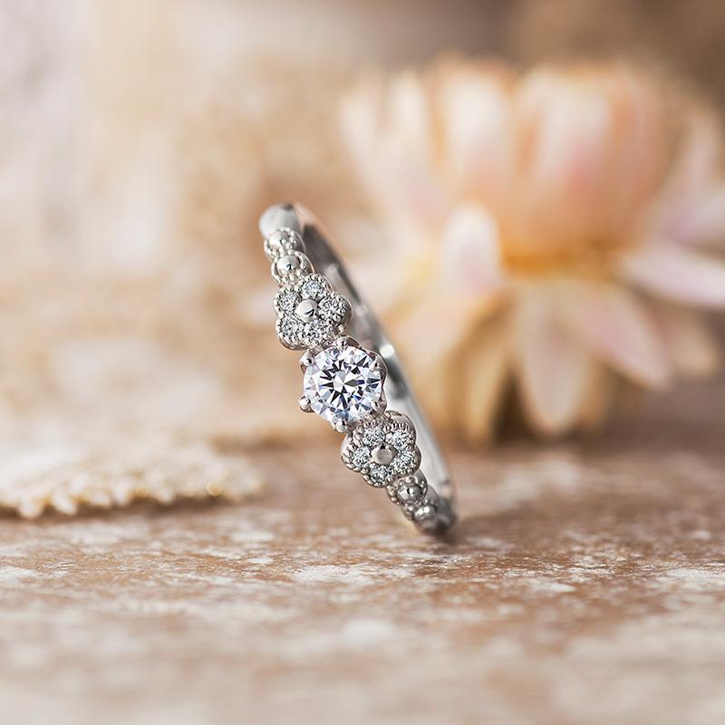 可愛らしい婚約指輪(エンゲージリング)をご紹介💍💗