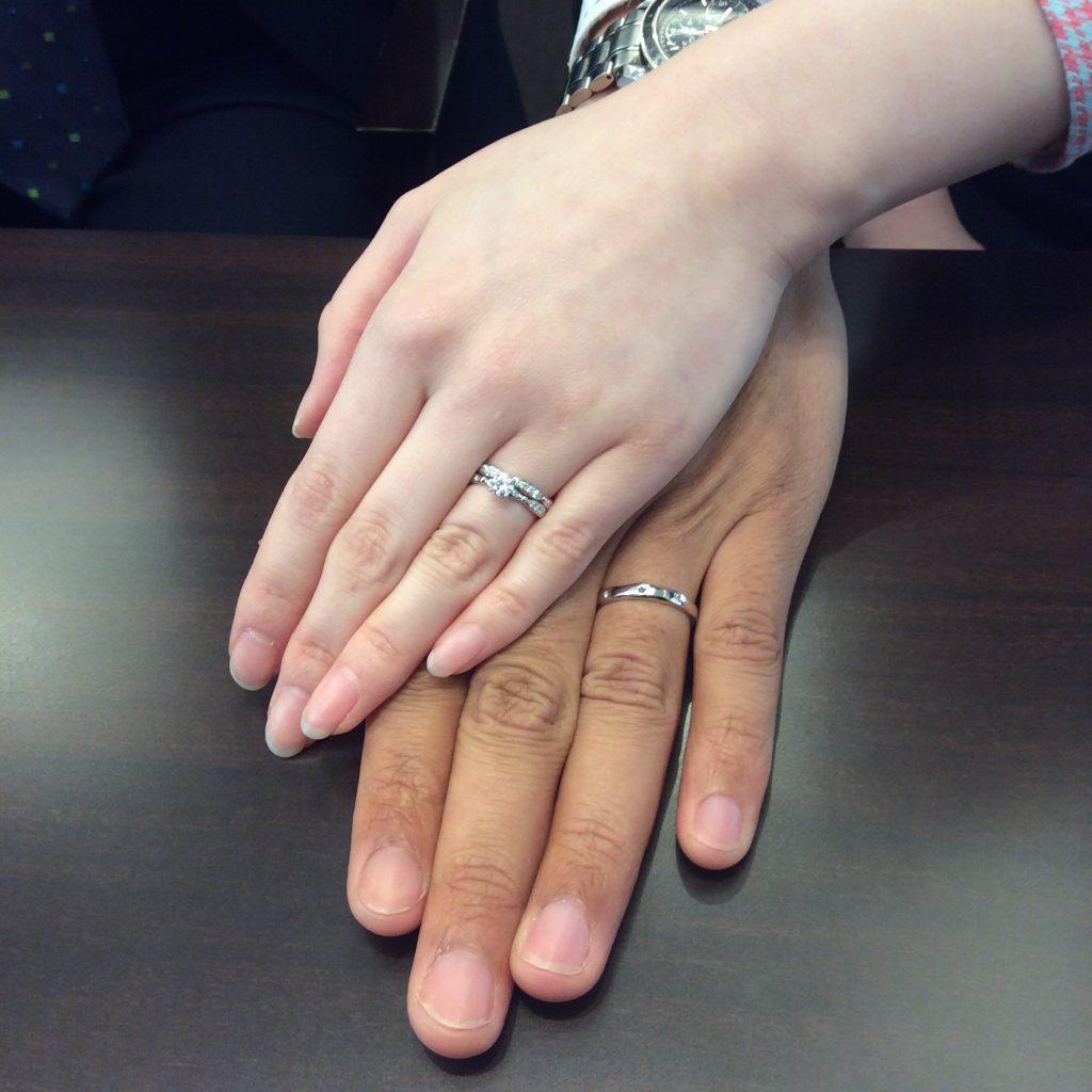 婚約指輪・結婚指輪 ルシエの「ラブリー」&「アリア」(新潟市/中川様・小出様)