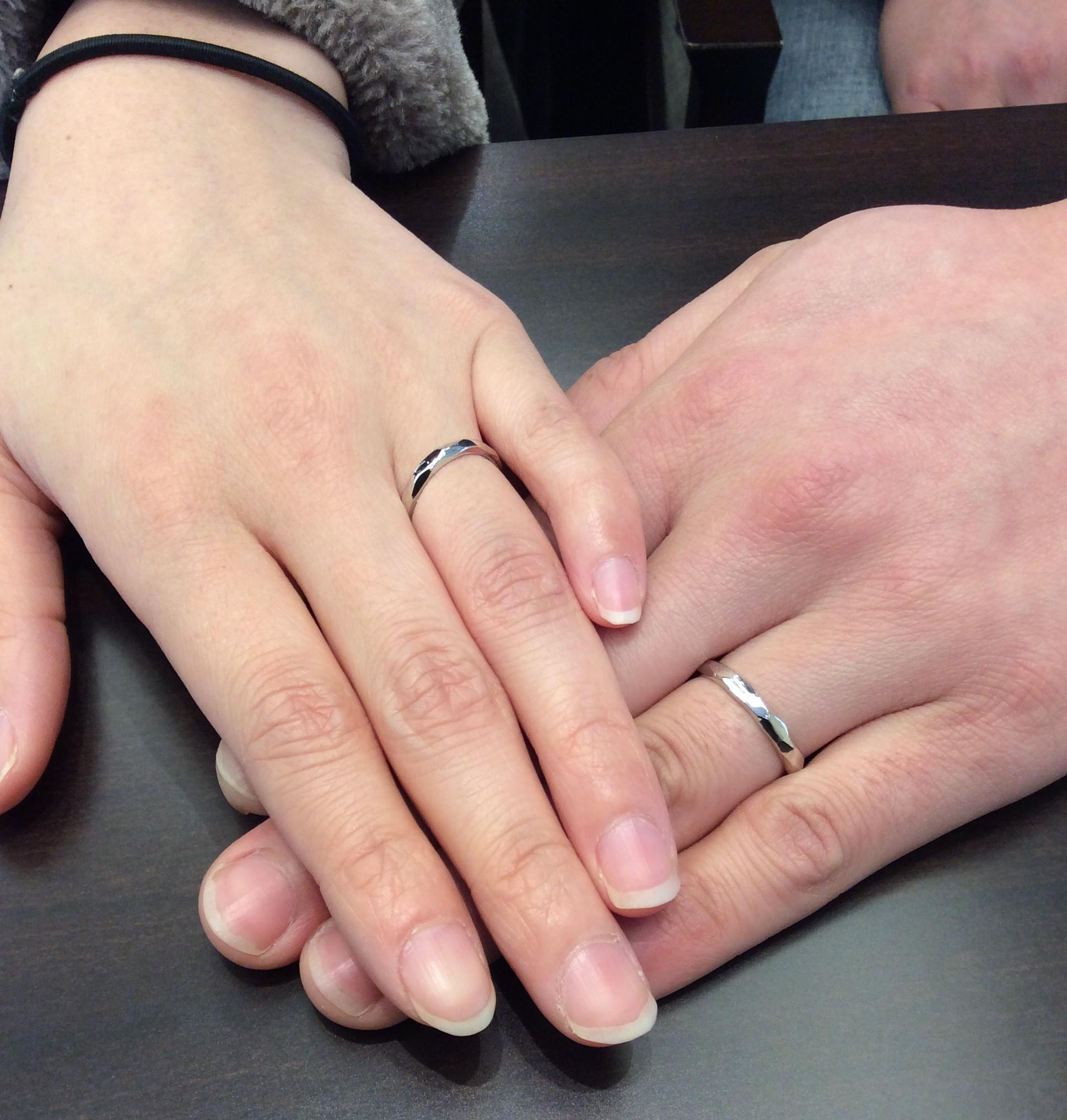 """結婚指輪 """"LUCIE(ルシエ)の""""ブランシュ""""  をプラチナでお作りしました✨   (村上市・新潟市/S様&S様)"""