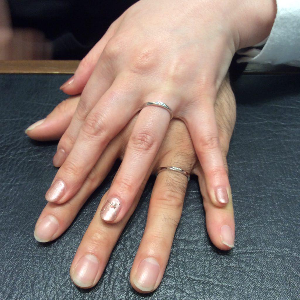 結婚指輪 ピンクドルフィンをご成約(燕市/K様ご夫婦)