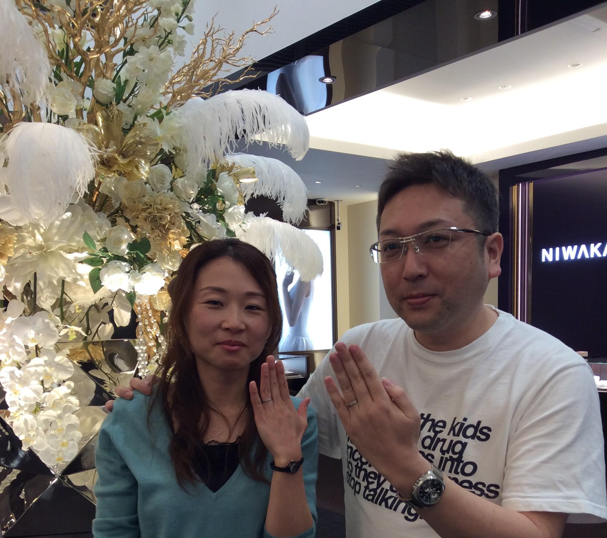 結婚指輪 ポンテヴェキオの「プロメッサ」をお作り頂きました(新潟市/荒木京様、美和様ご夫婦)