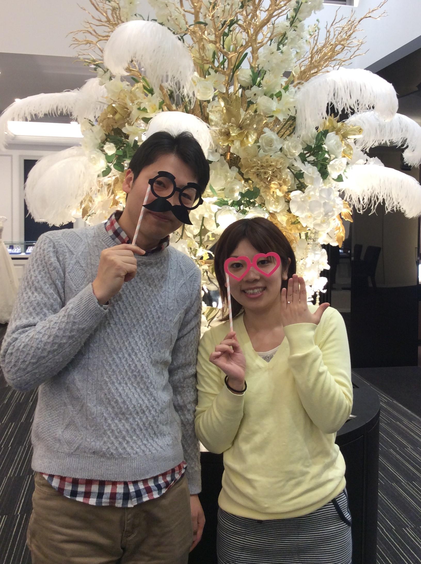 """婚約指輪 LUCIE(ルシエ)の""""フィユ""""をピンクゴールドでお作りしました💐 (新潟市/O様&F様)"""