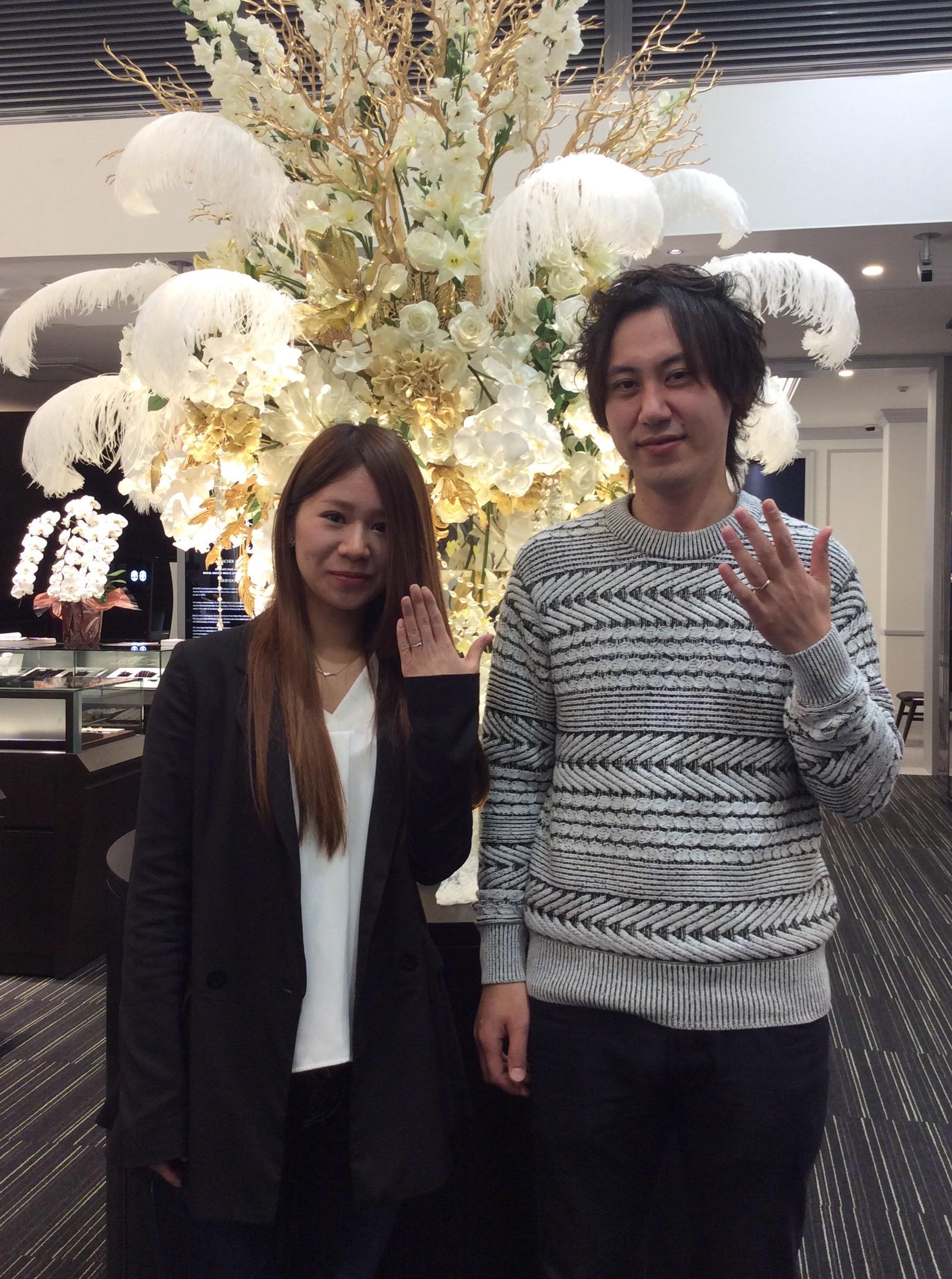 俄(にわか)の結婚指輪『単衣』をご成約(新潟市/G様ご夫婦)