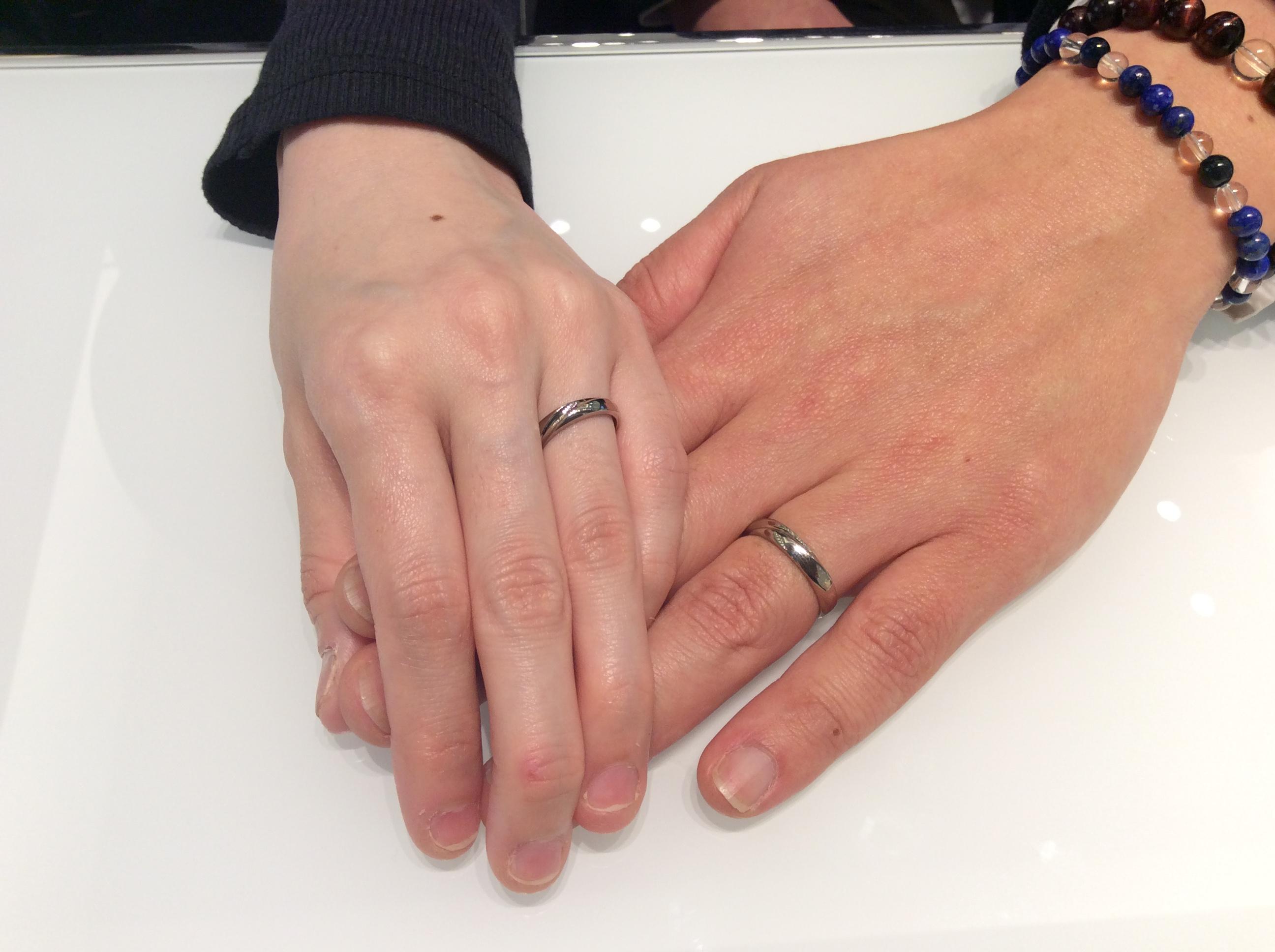 """結婚指輪  LUCIE(ルシエ)の""""Hope(ホープ)""""をプラチナゴールドでお作り頂きました🌟 (長岡市・阿賀市/本間隆様,淳子様)"""