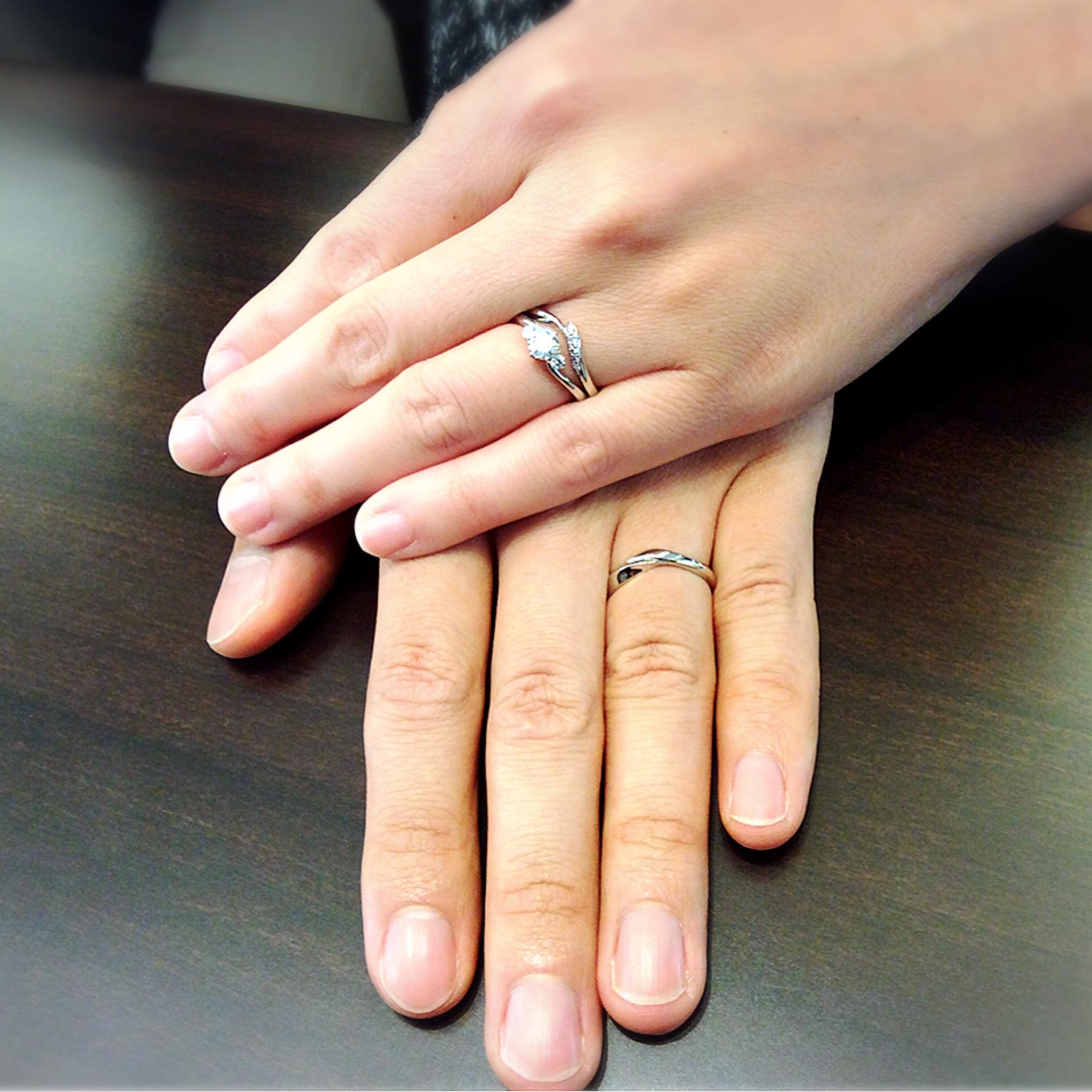 婚約指輪との相性が抜群!俄(にわか)の結婚指輪『初桜』をご成約🌸(上越市/D様・S様)