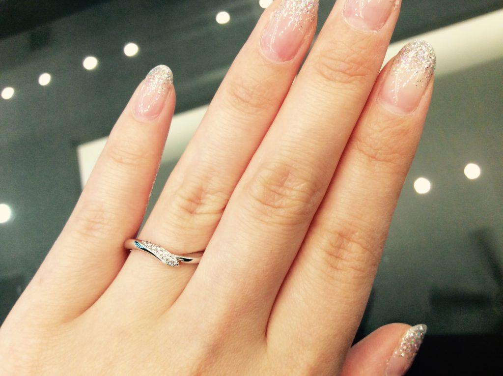 出逢いの奇跡💗ピンクダイヤモンドの結婚指輪