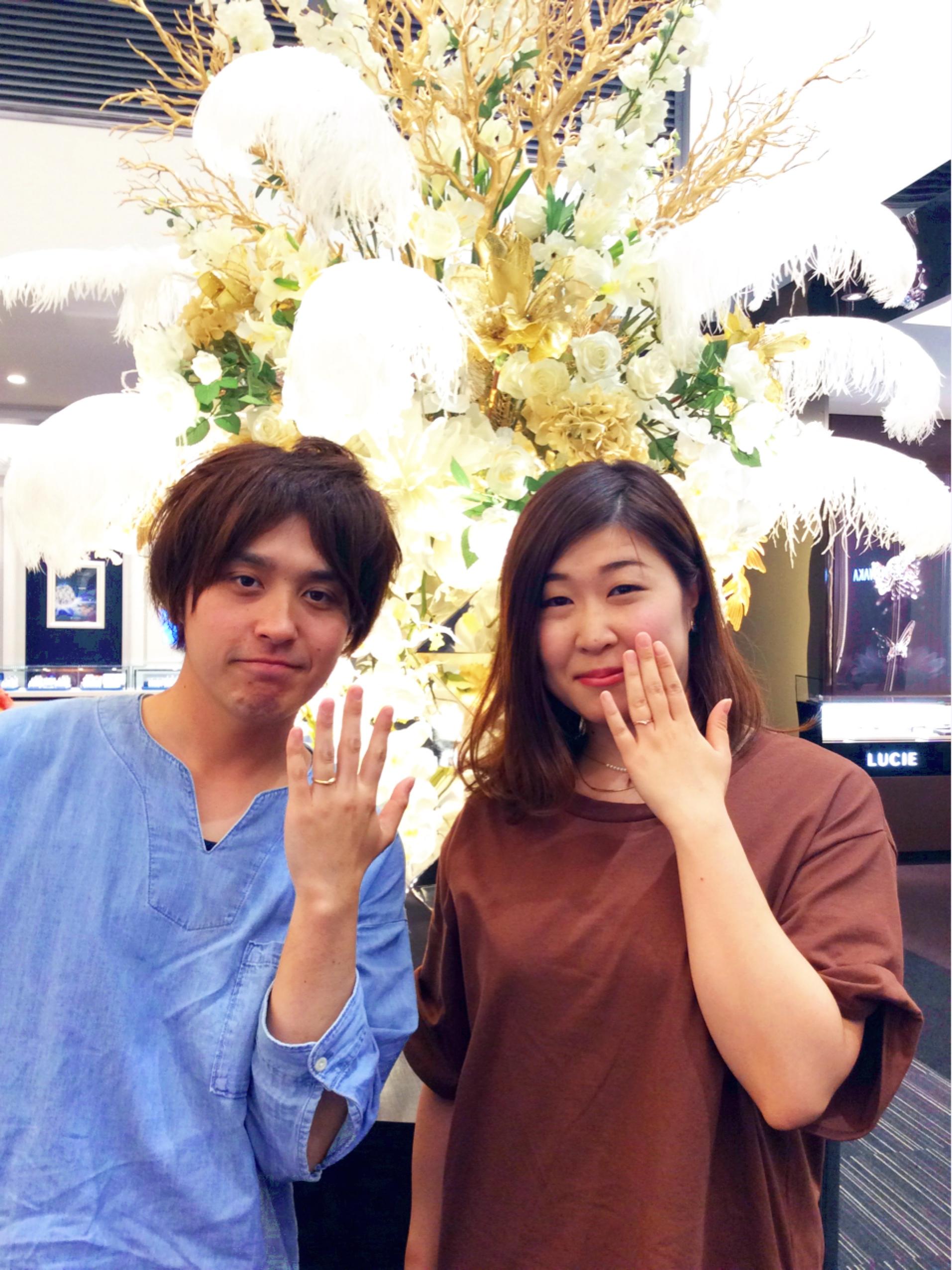 ゴールドアレンジの結婚指輪🌸俄(にわか)の初桜(新潟市東区/M様ご夫婦)