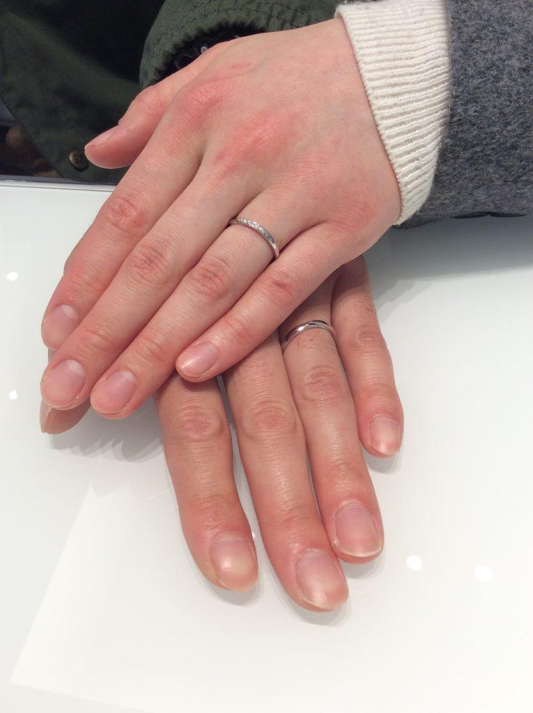 重ね付けもバッチリ👌結婚指輪 俄(にわか)の「せせらぎ」をご成約(長岡市/E様ご夫婦)