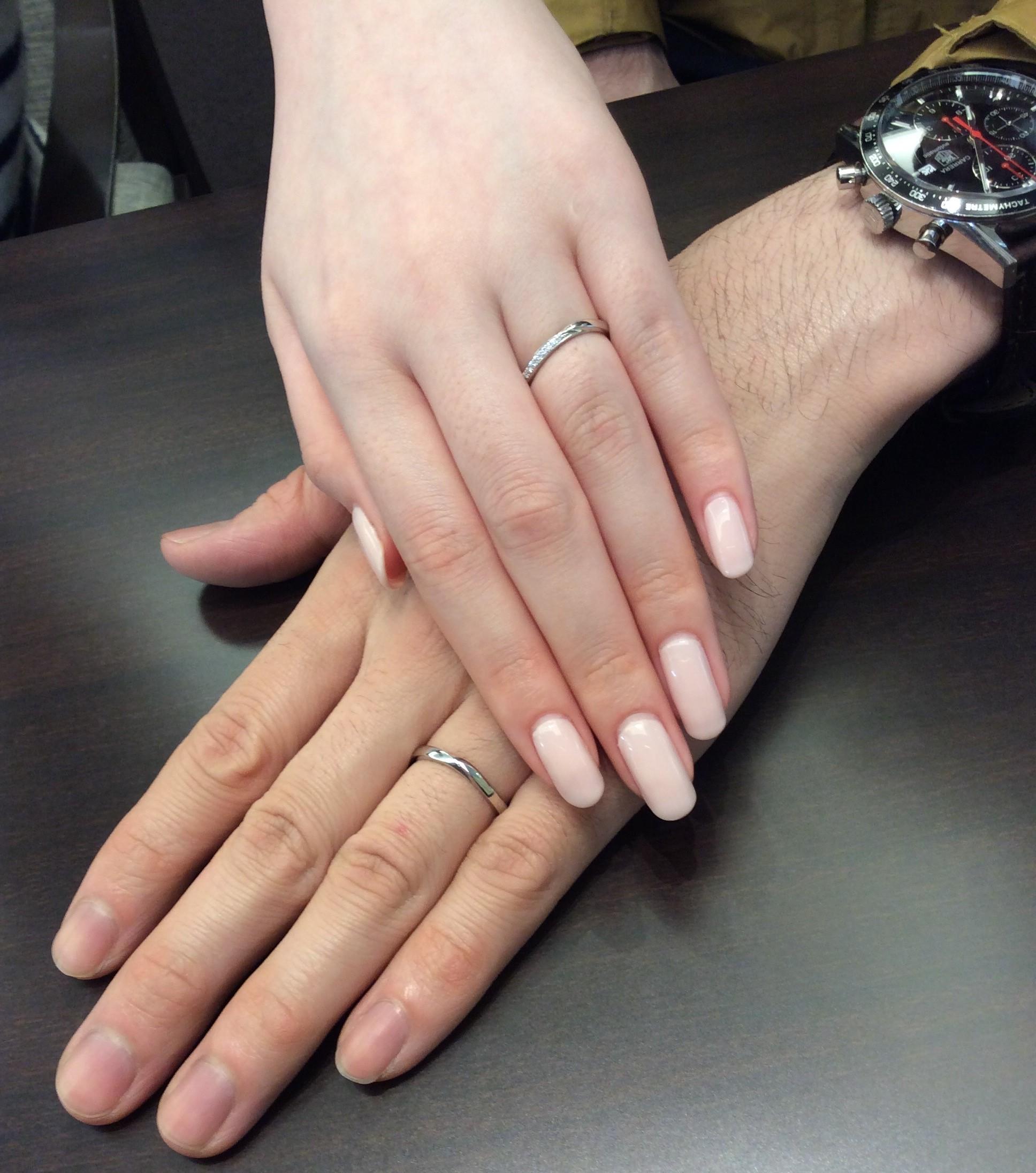 NIWAKA-にわか-の結婚指輪『せせらぎ』をご成約(新潟市/F様&M様)