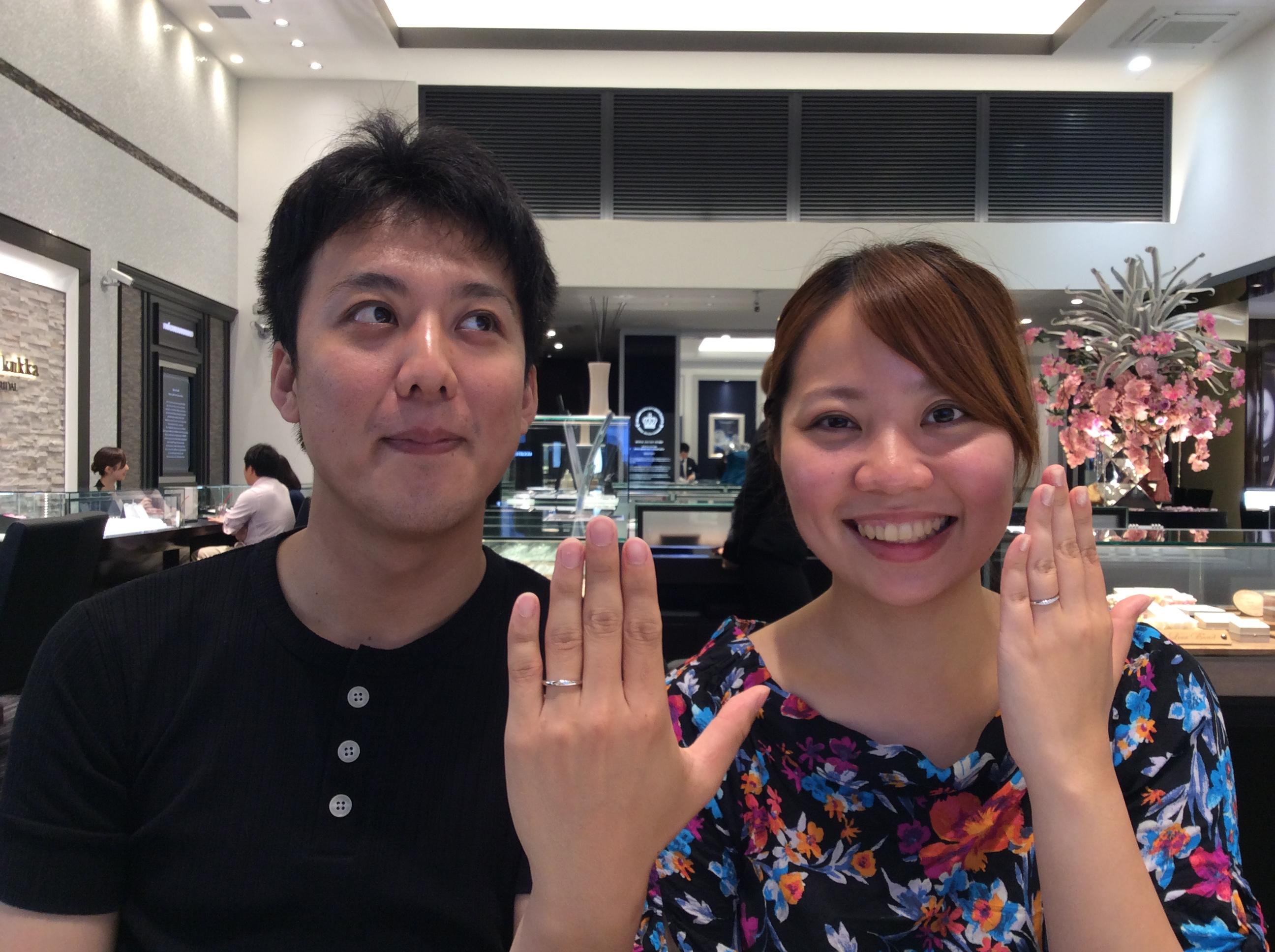 """結婚指輪 ラザールダイアモンドの""""カシオペア""""をお求め頂きました!(新潟市/島田様ご夫婦)"""